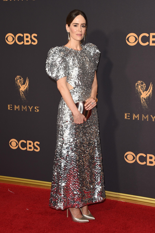 Sarah Paulson Emmys Red Carpet 2017