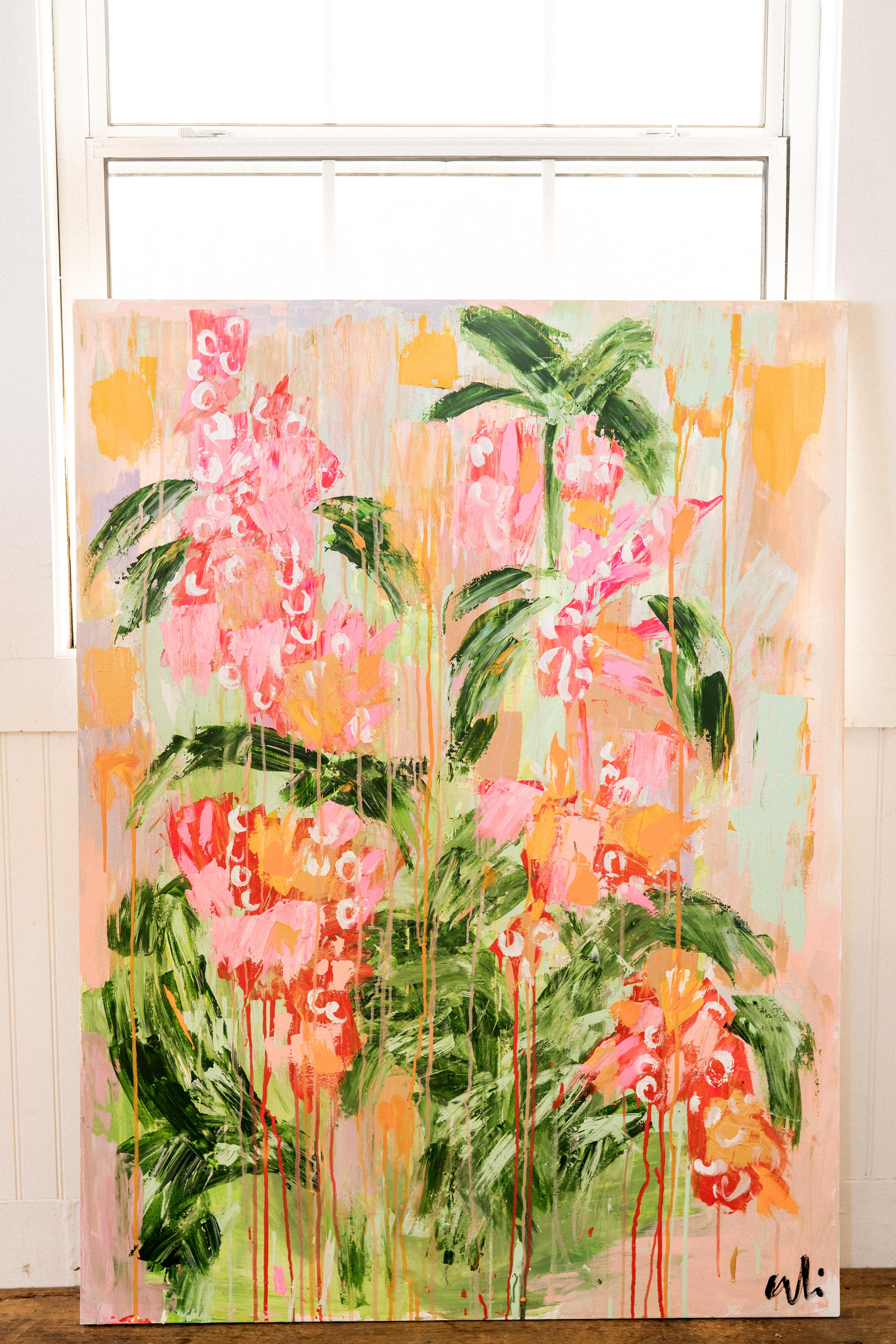 kara bridal shower floral art painting