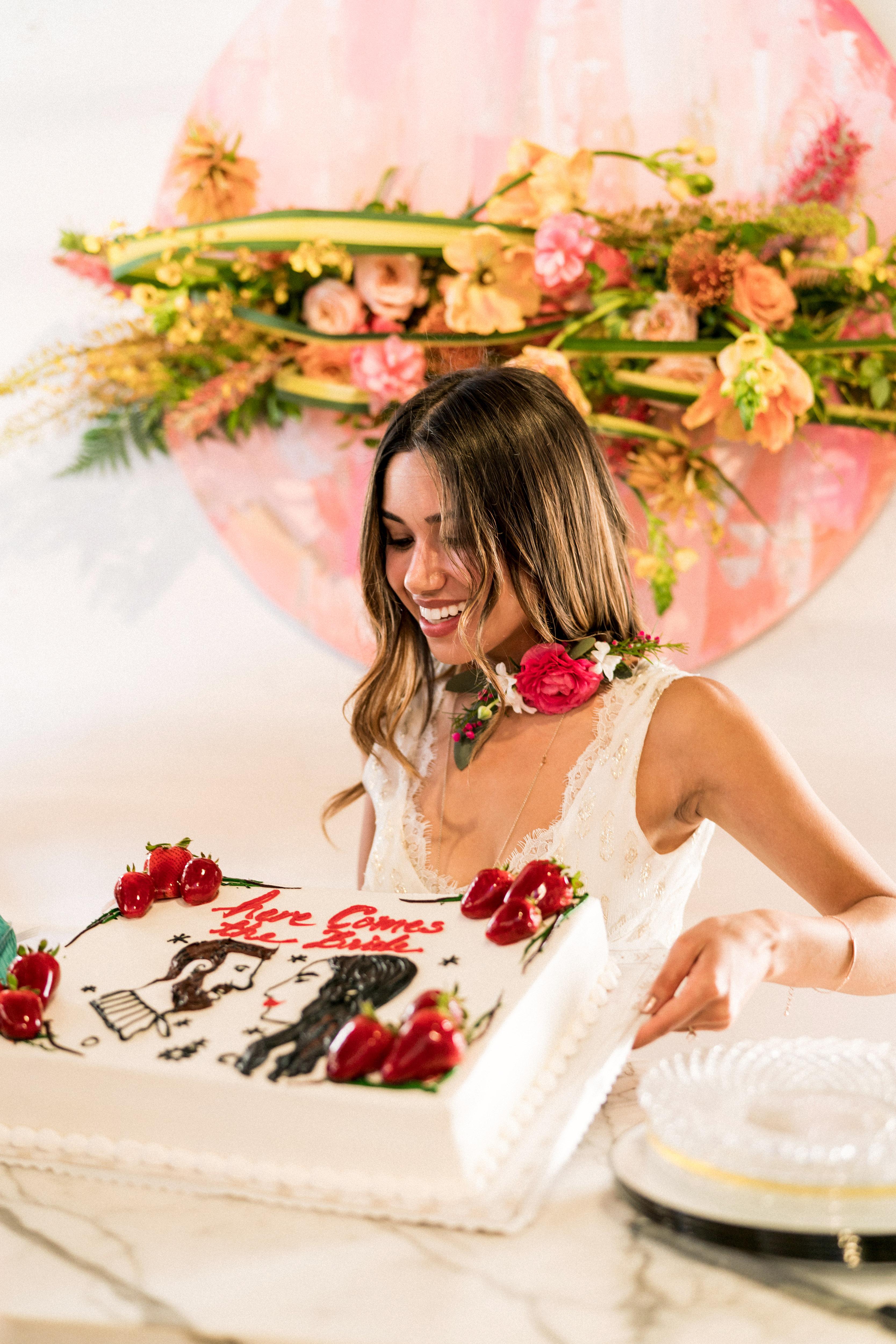 kara bridal shower cake