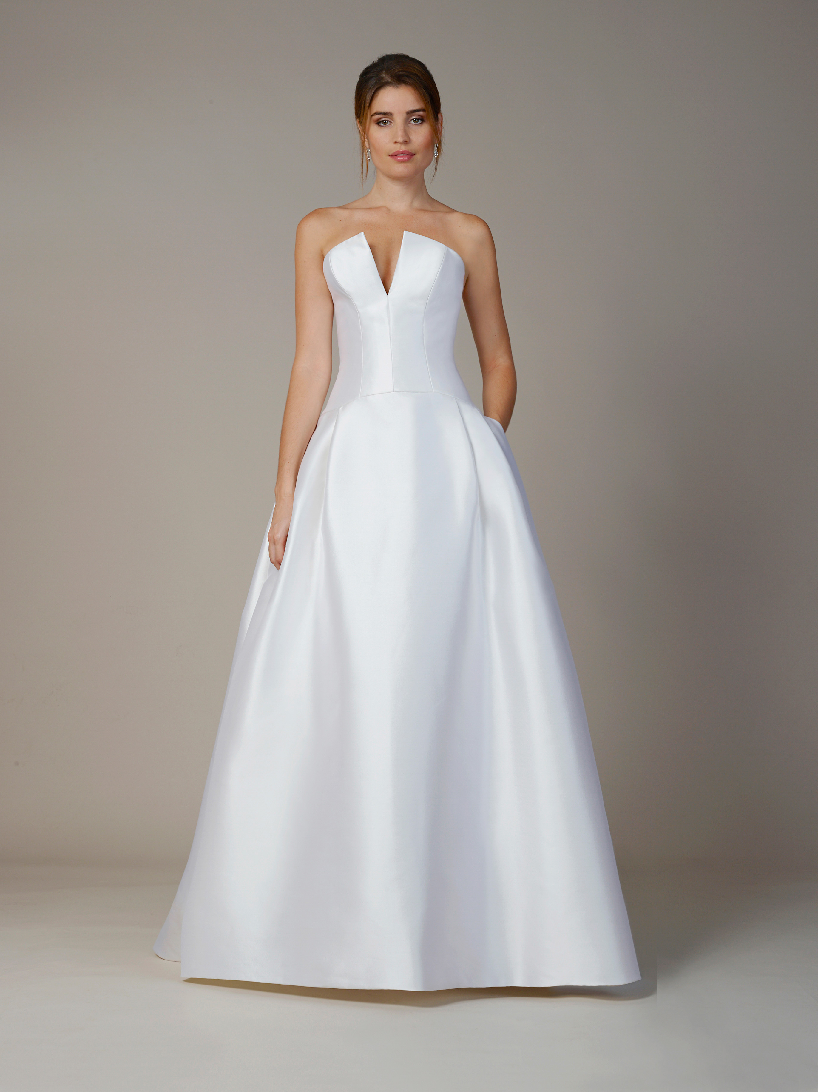 liancarlo wedding dress fall 2018 strapless v-neck