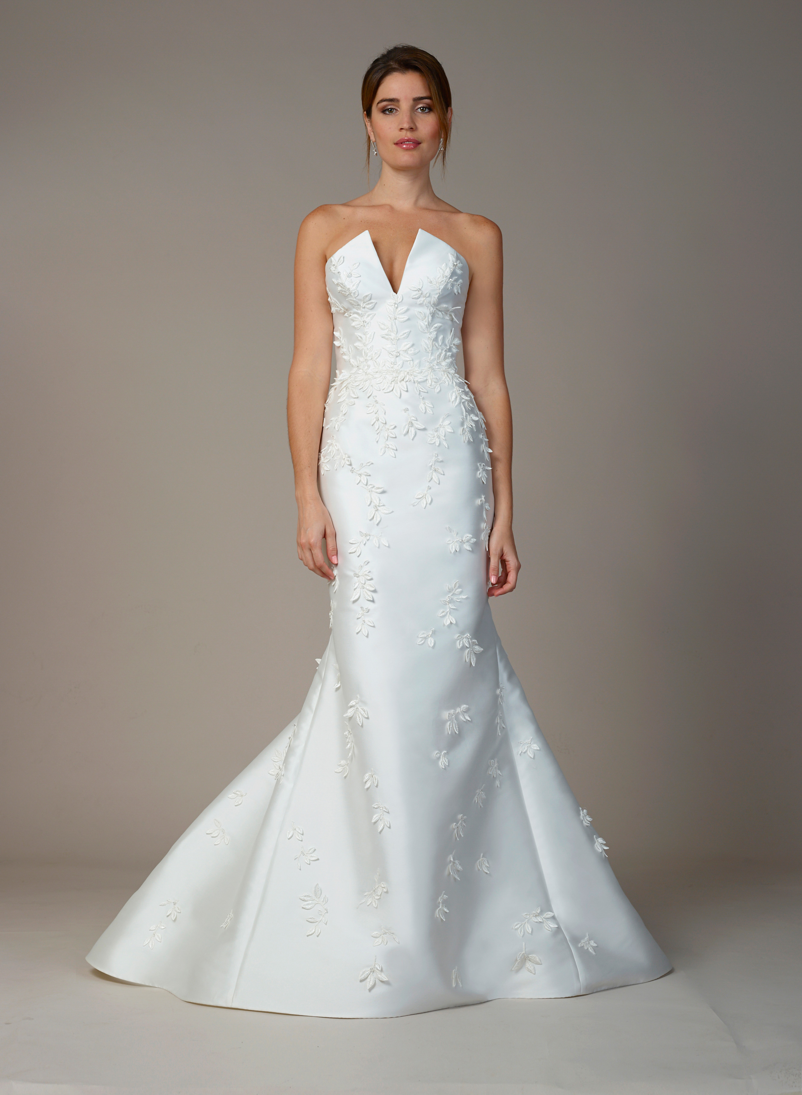 liancarlo wedding dress fall 2018 mermaid v-neck sleeveless