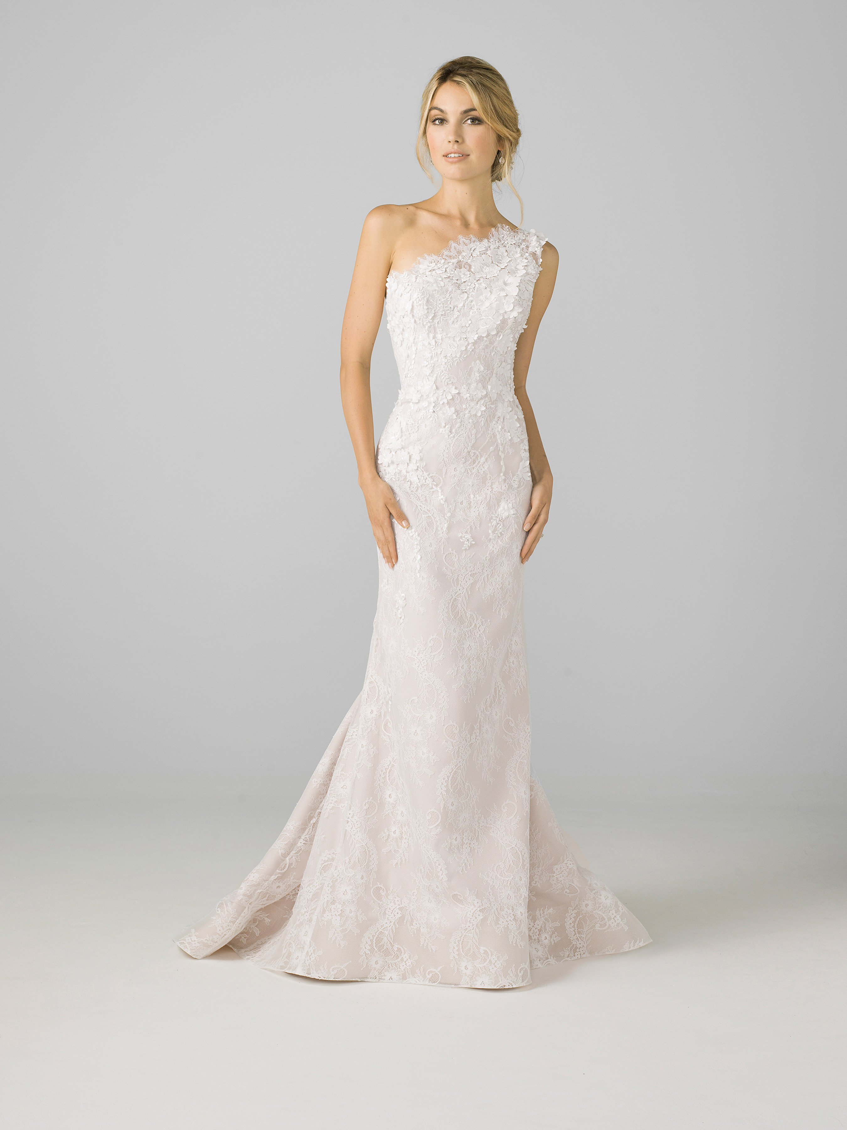 azul by liancarlo 2018 one-strap floral wedding dress