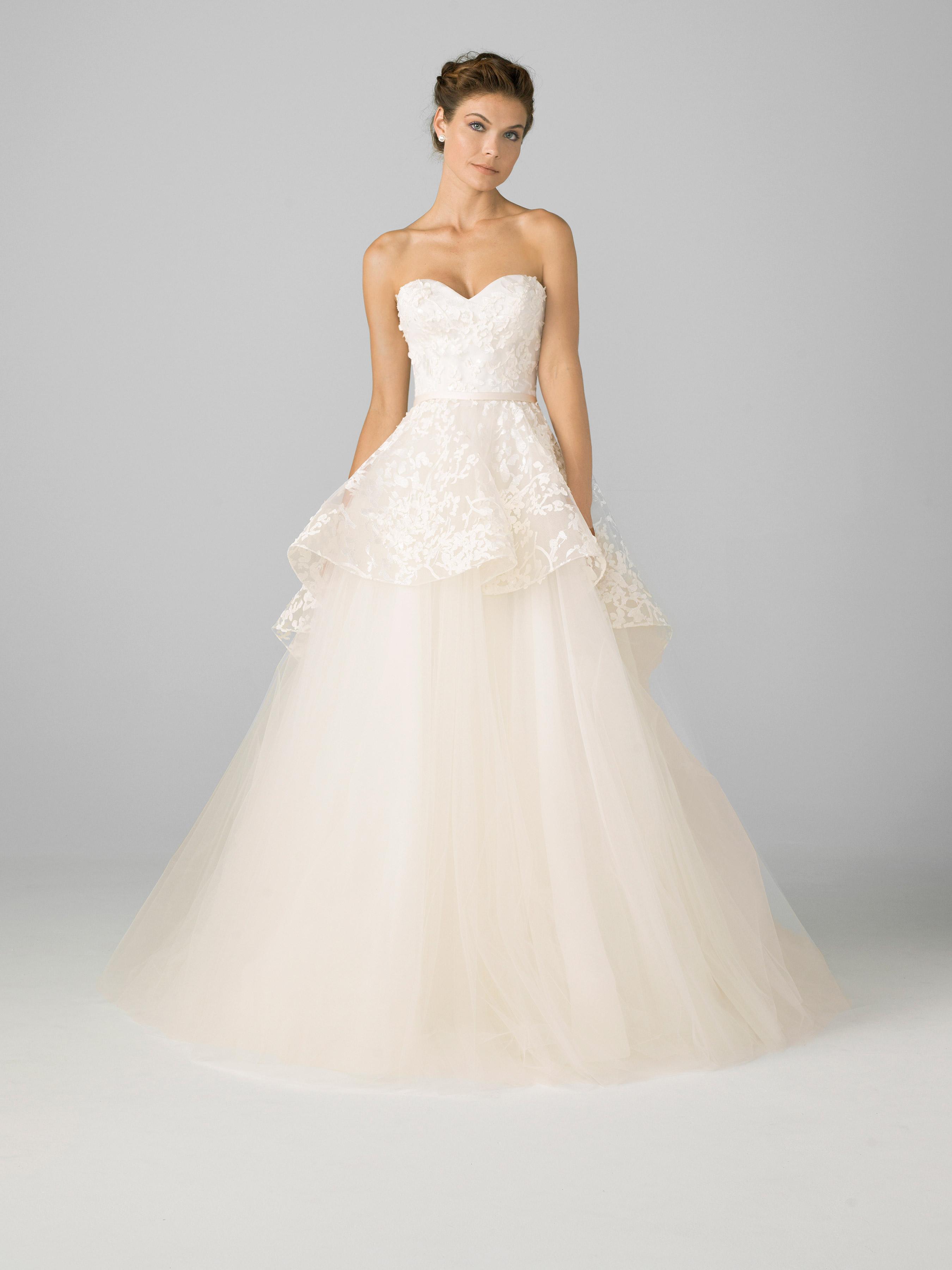 azul by liancarlo 2018 sweetheart lace overlay wedding dress