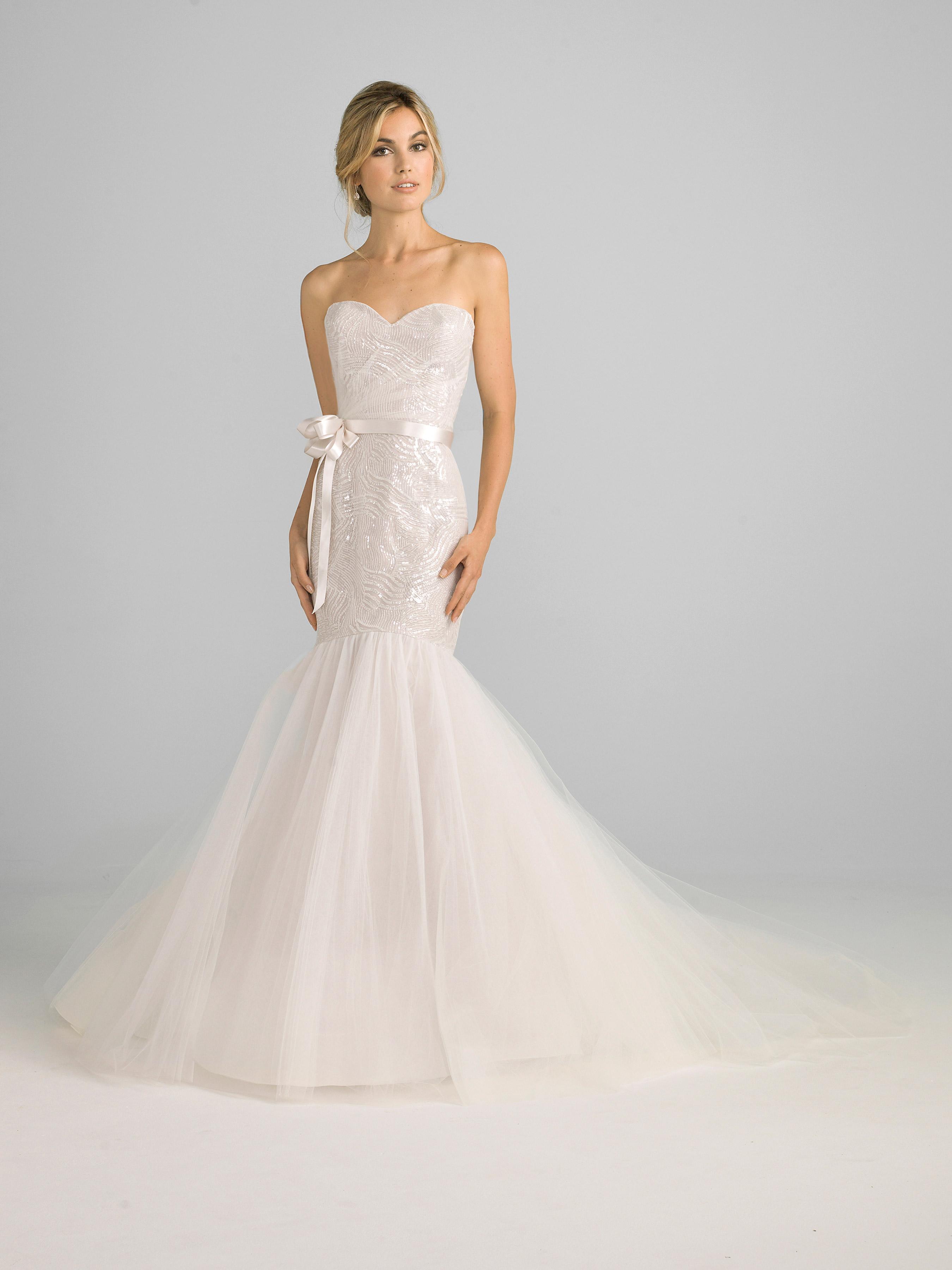 azul by liancarlo 2018 sweetheart ribbon trumpet wedding dress