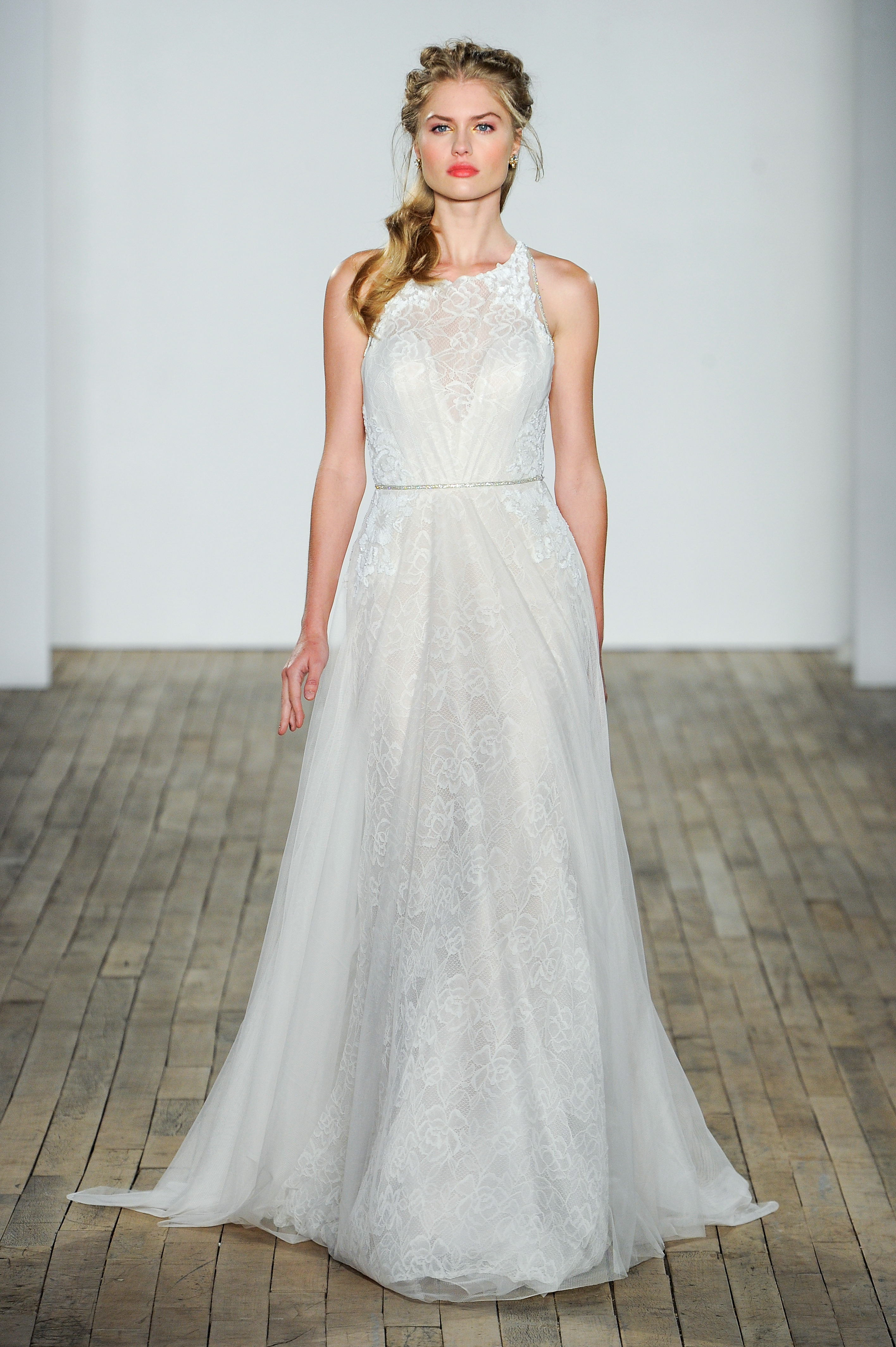 jlm blush by hayley paige wedding dress fall 2018 high neck lace
