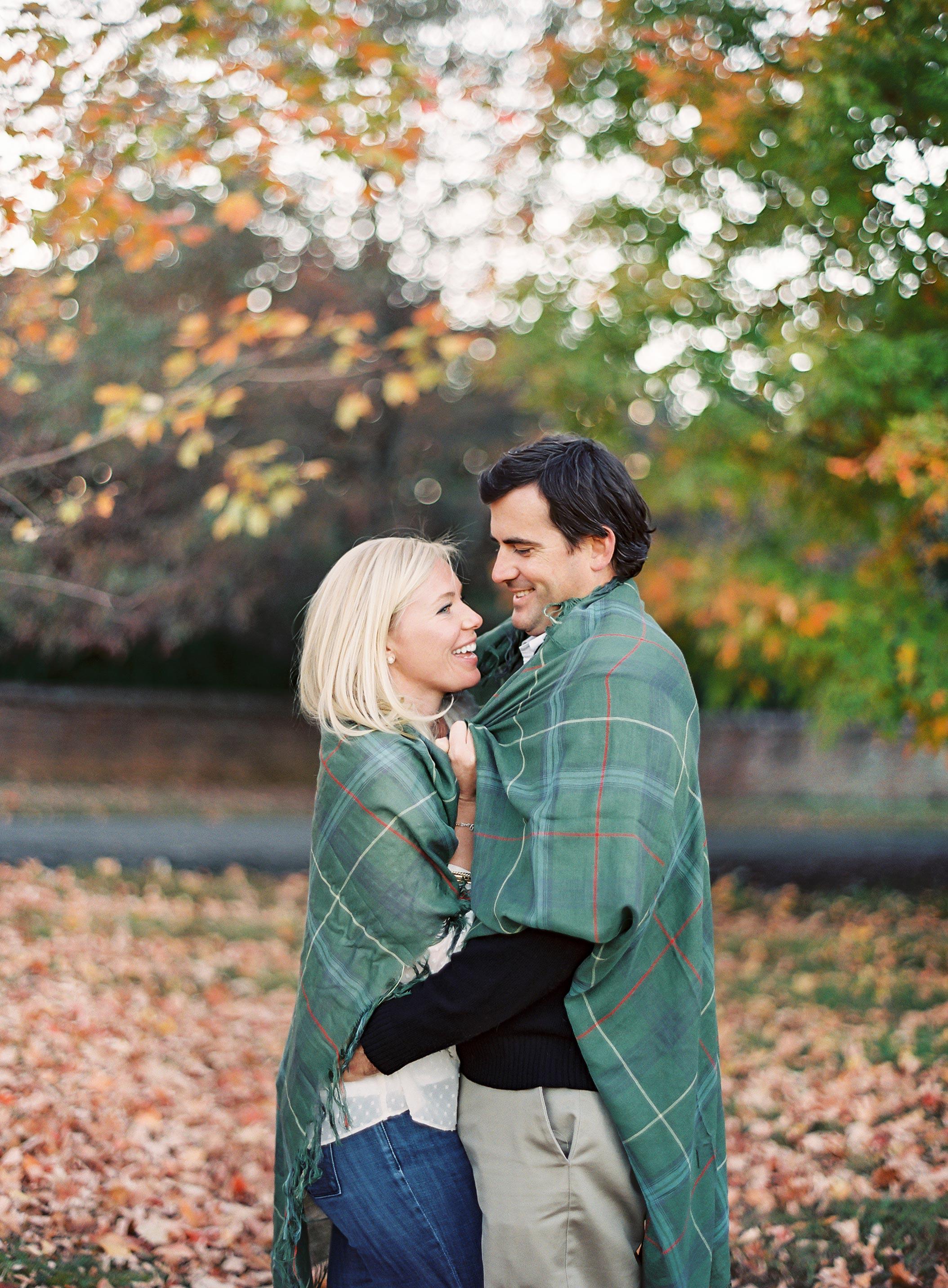 fall couple blanket