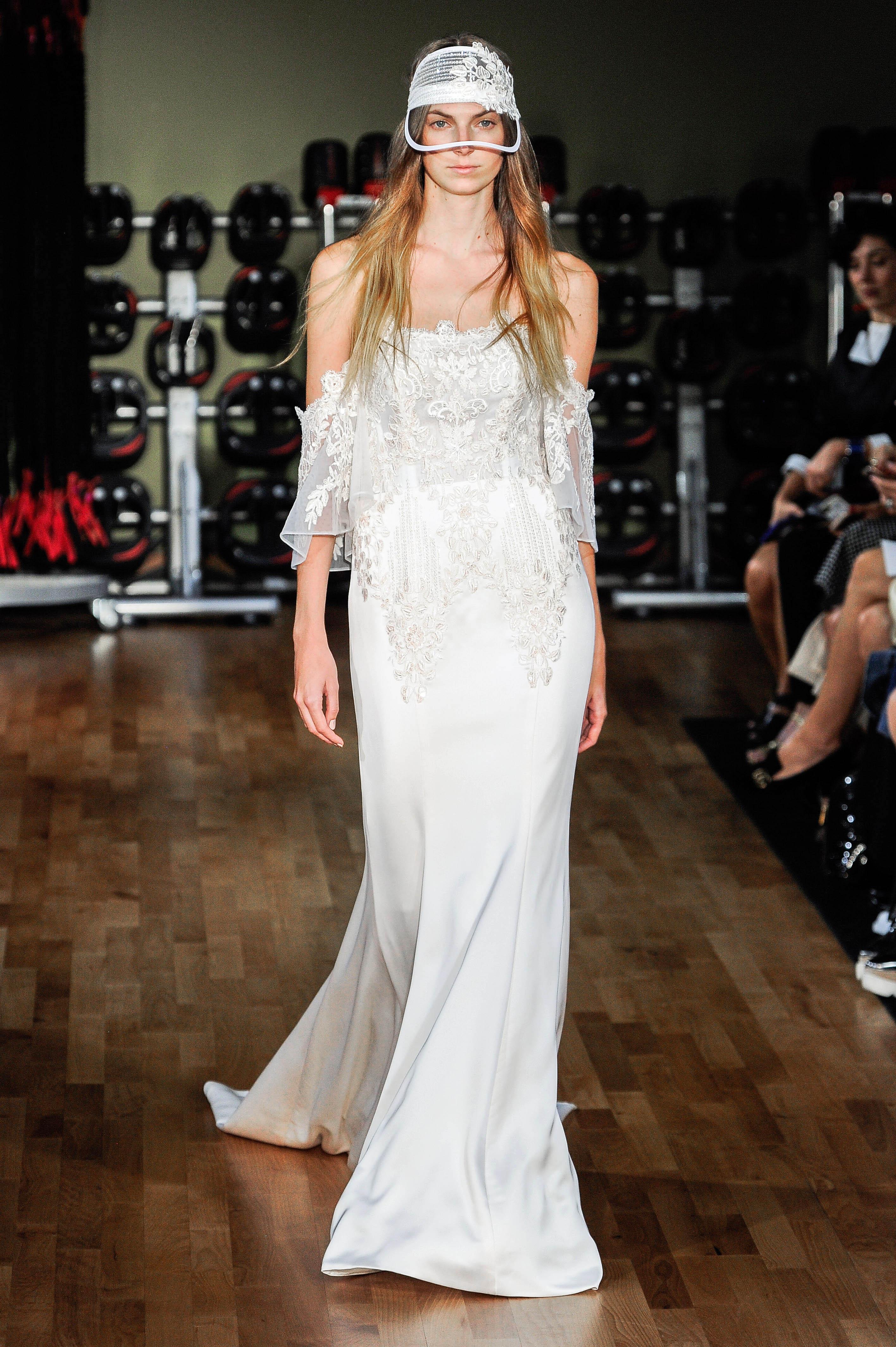 rivini by rita vinieris wedding dress fall 2018 off the shoulder hat slinky
