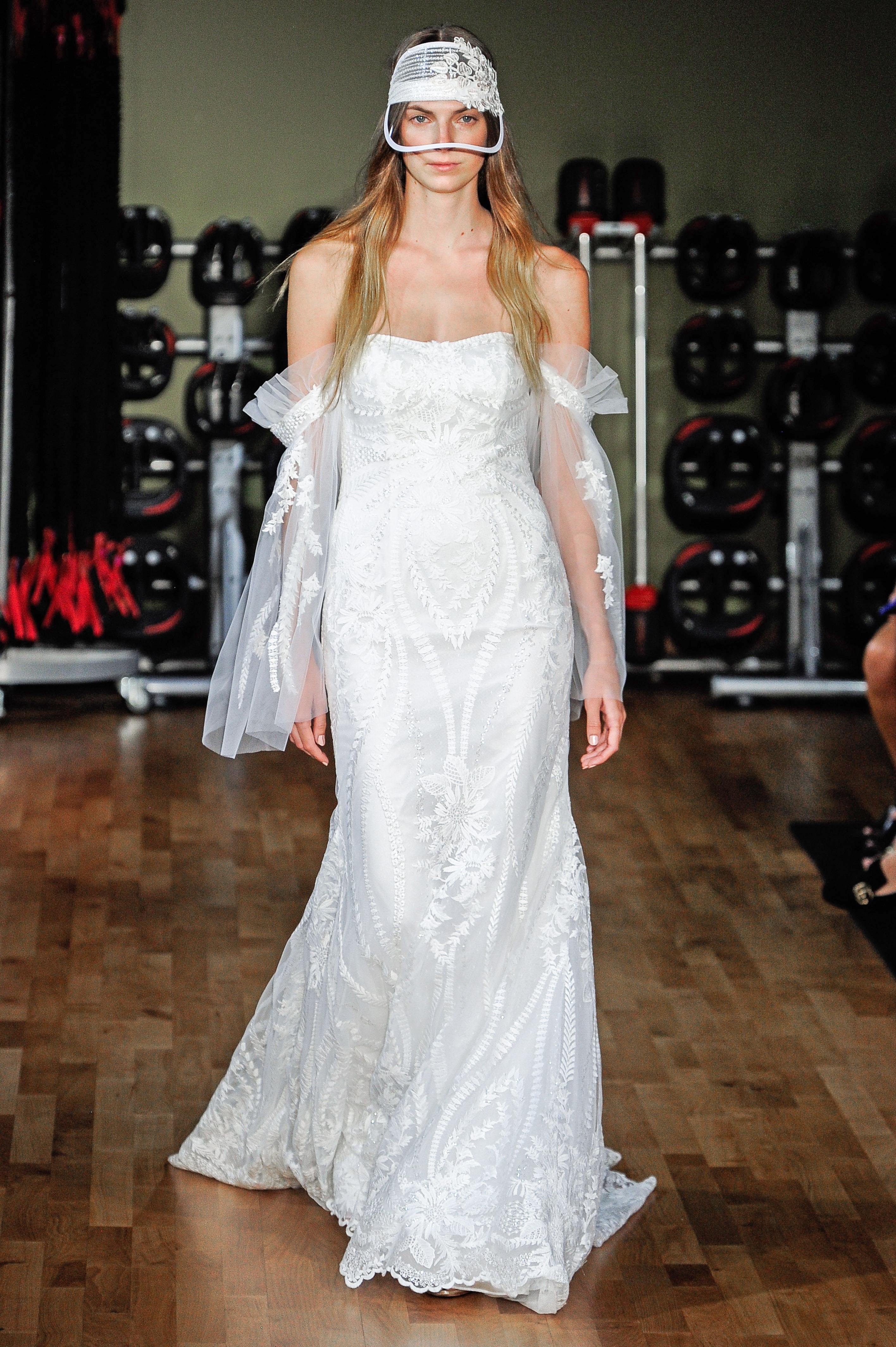 rivini by rita vinieris off-the-shoulder sheath wedding dress fall 2018