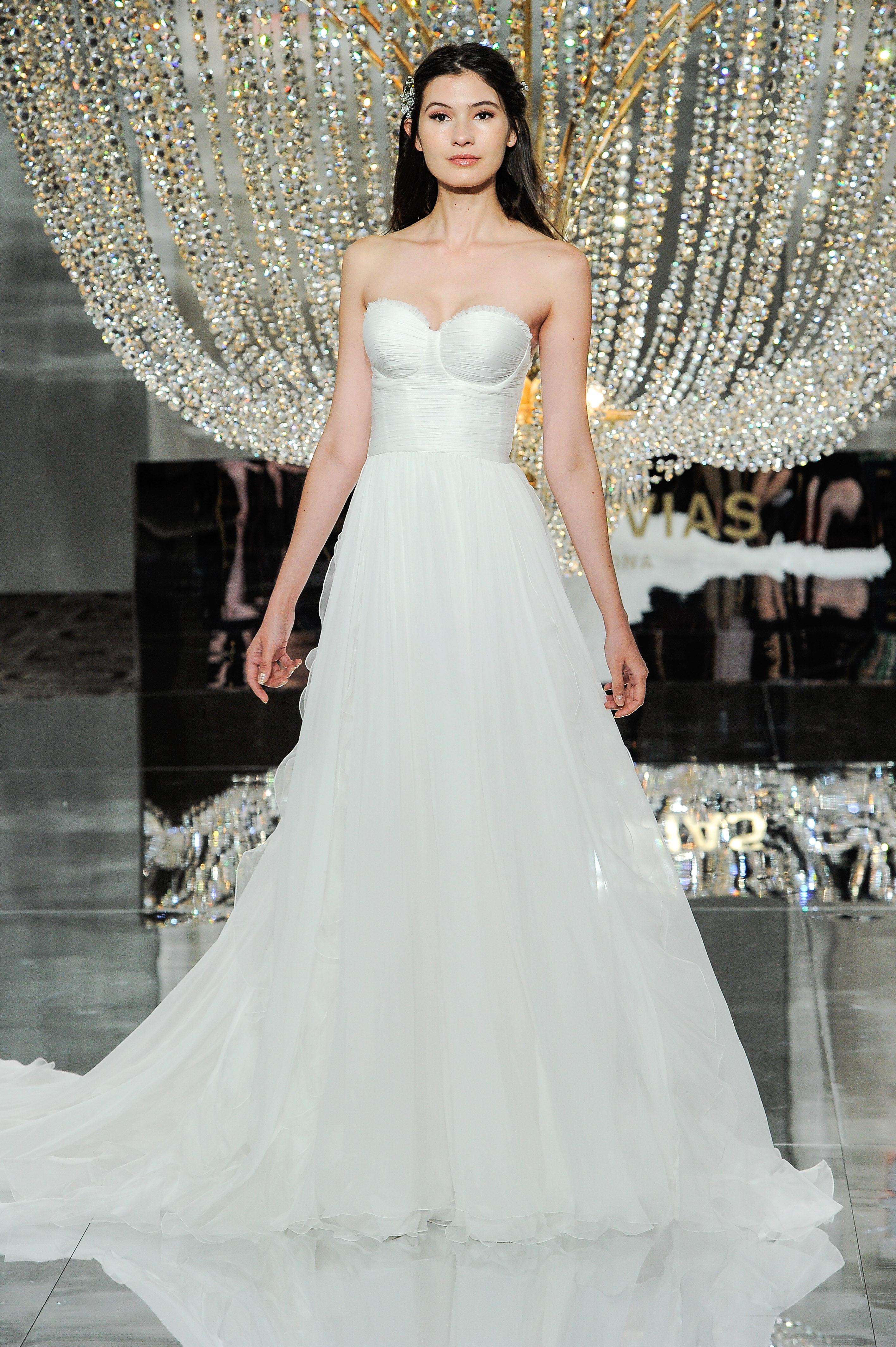 pronovias wedding dress fall 2018 sweetheart strapless a-line