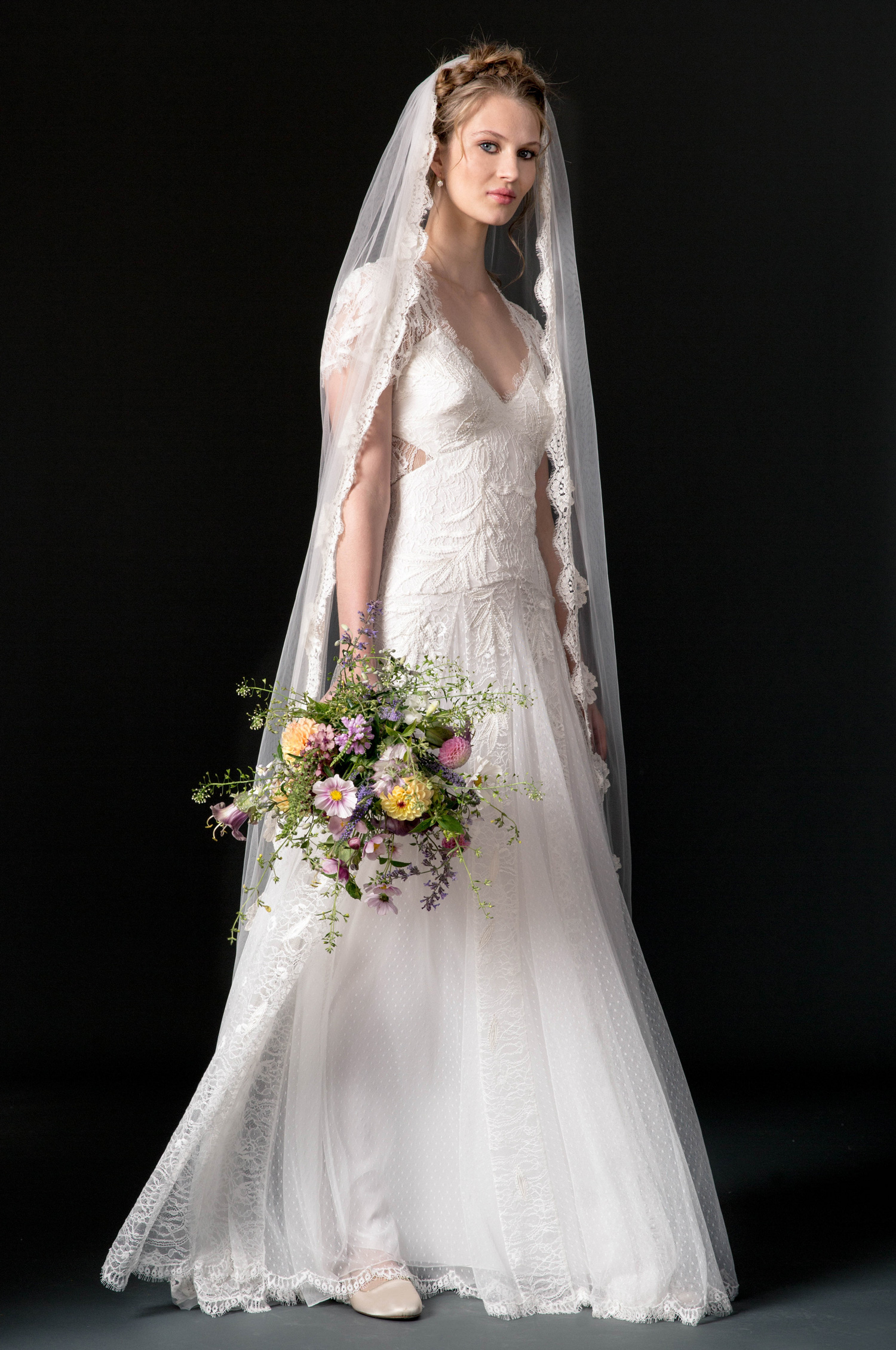 temperley wedding dress fall 2018 lace cap sleeve