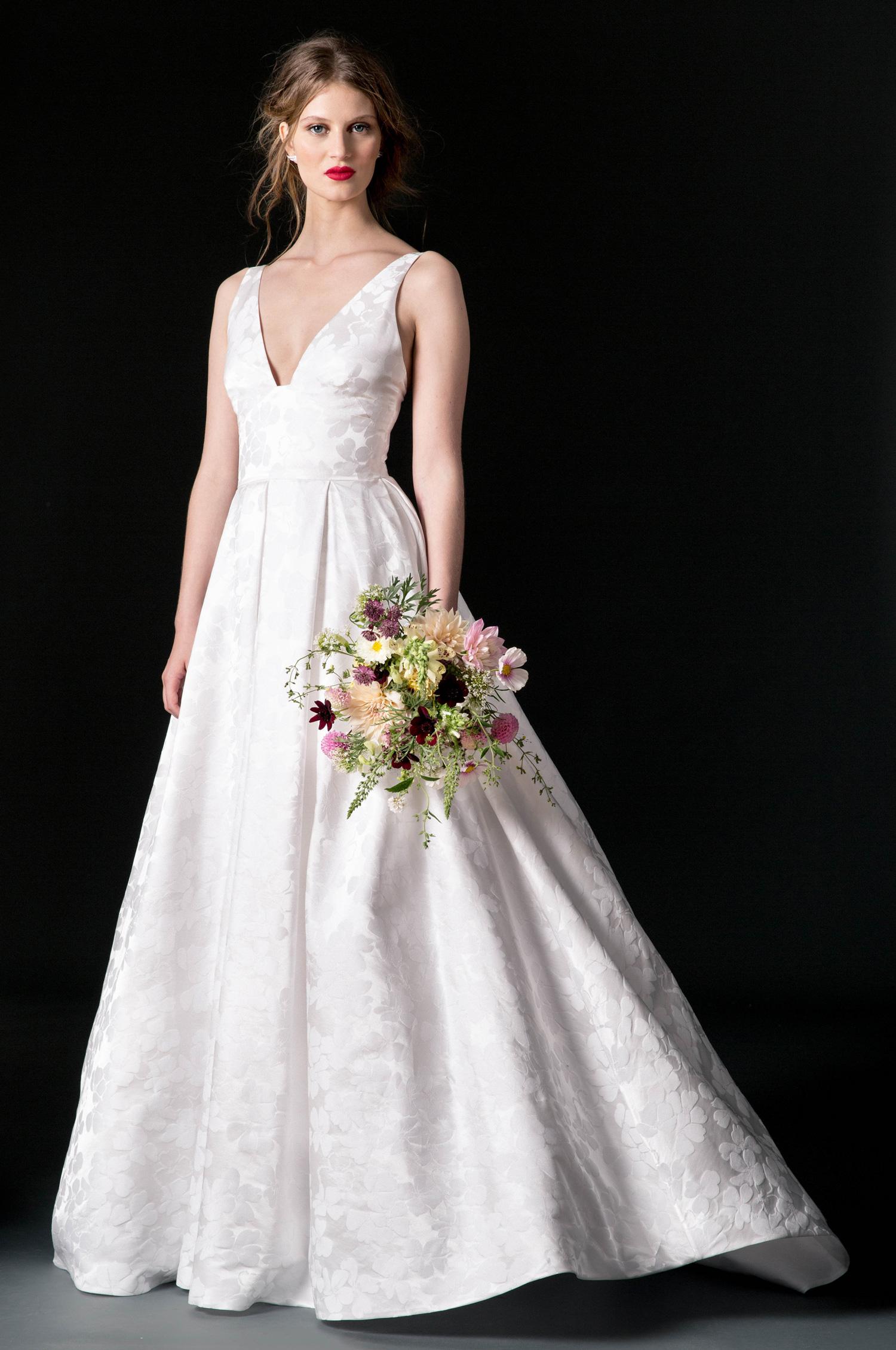 temperley wedding dress fall 2018 v-neck a-line