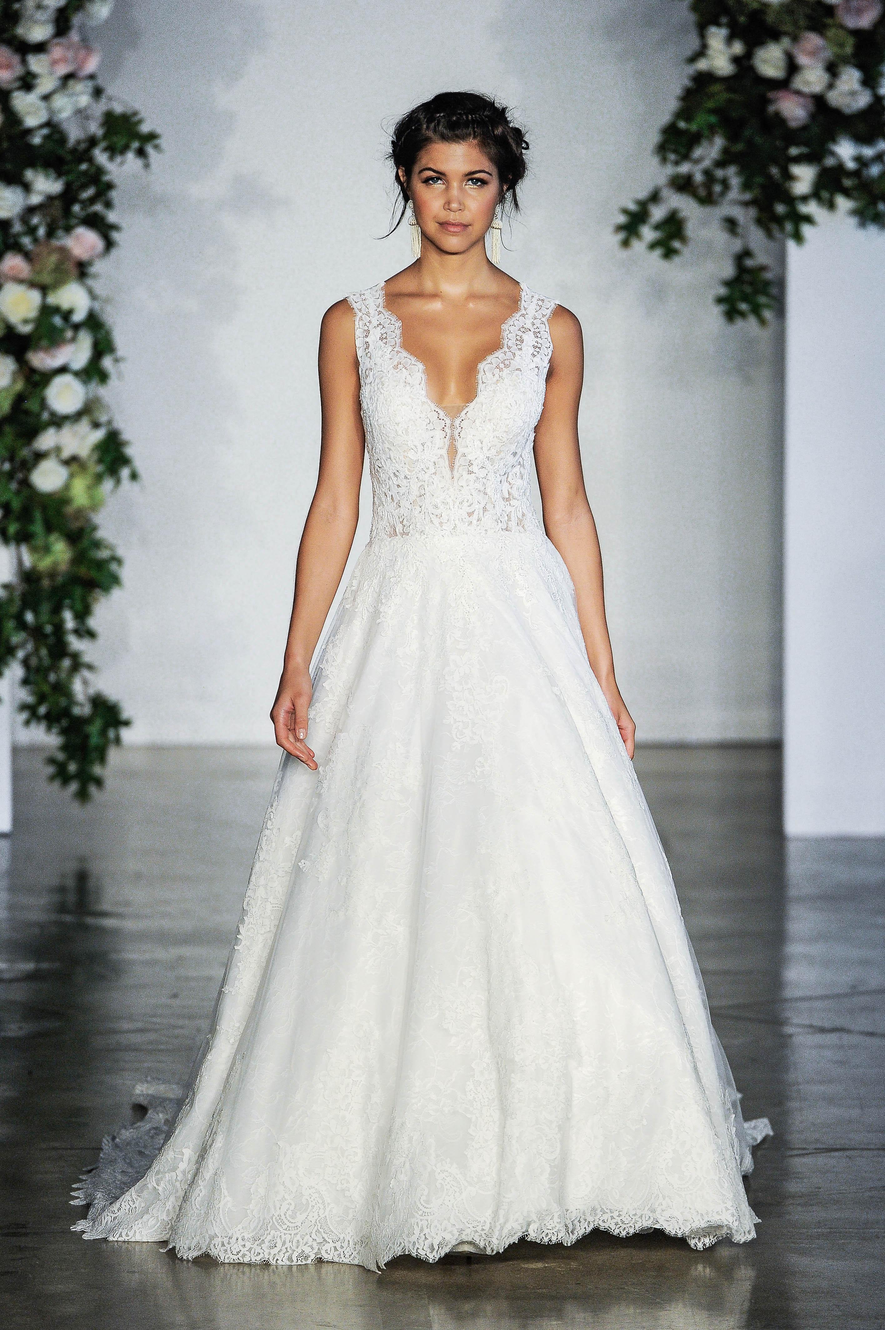 Morilee V-Neck Wedding Dress Fall 2018