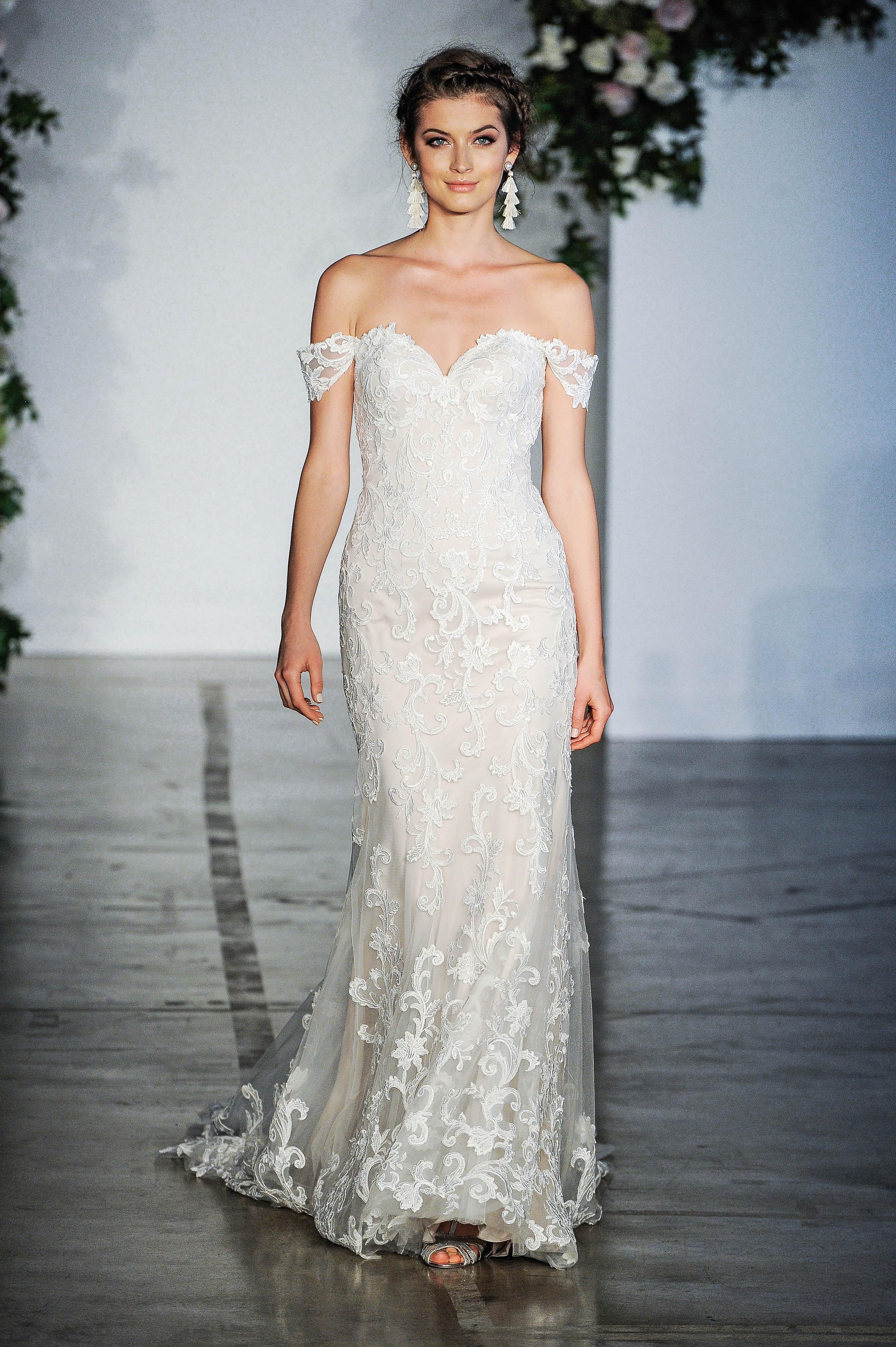 Morilee Off-the-Shoulder Sweetheart Wedding Dress Fall 2018