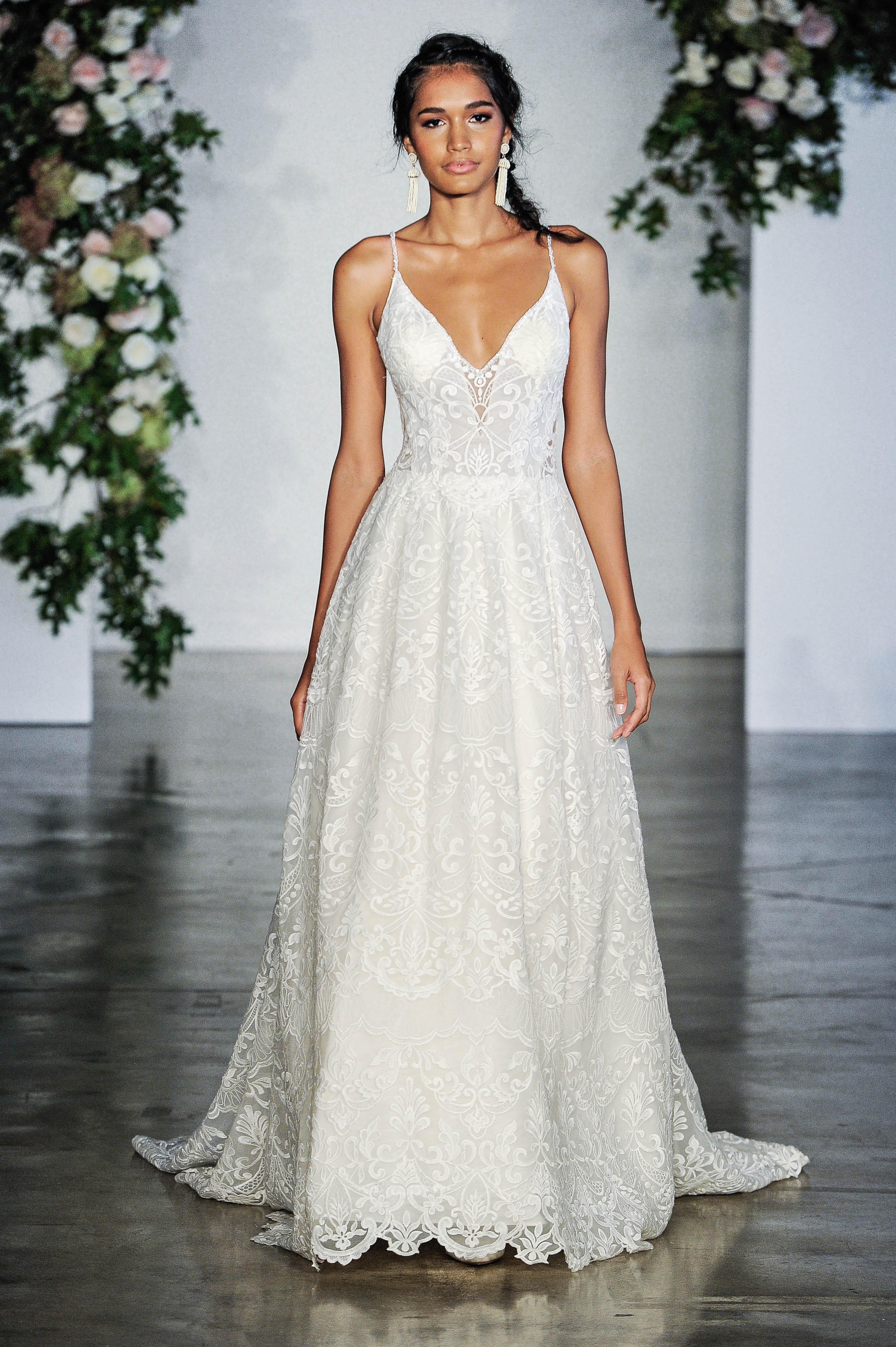 Morilee Spaghetti Strap Ball Gown Wedding Dress Fall 2018