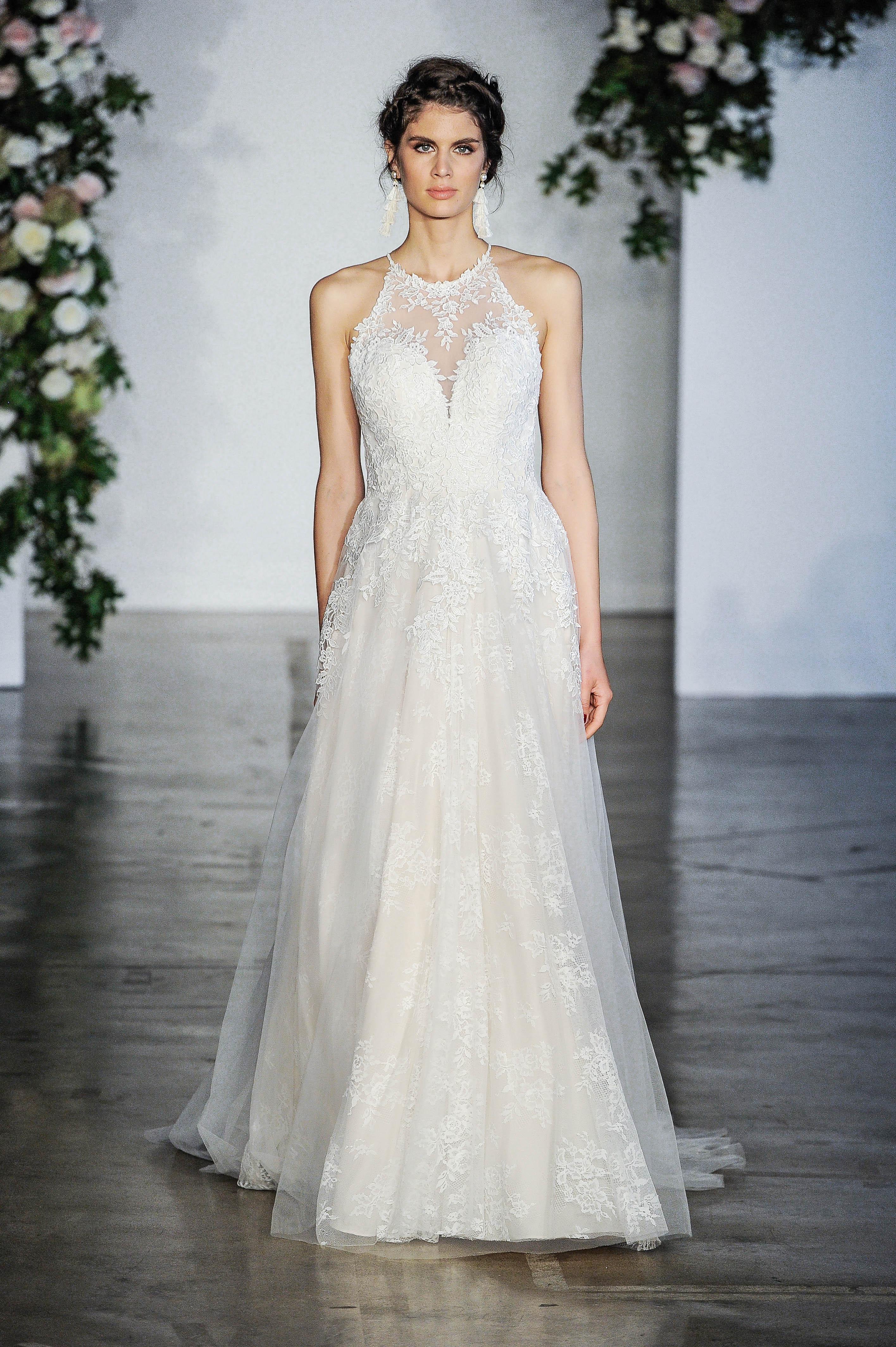 Morilee High Neck Ball Gown Wedding Dress Fall 2018