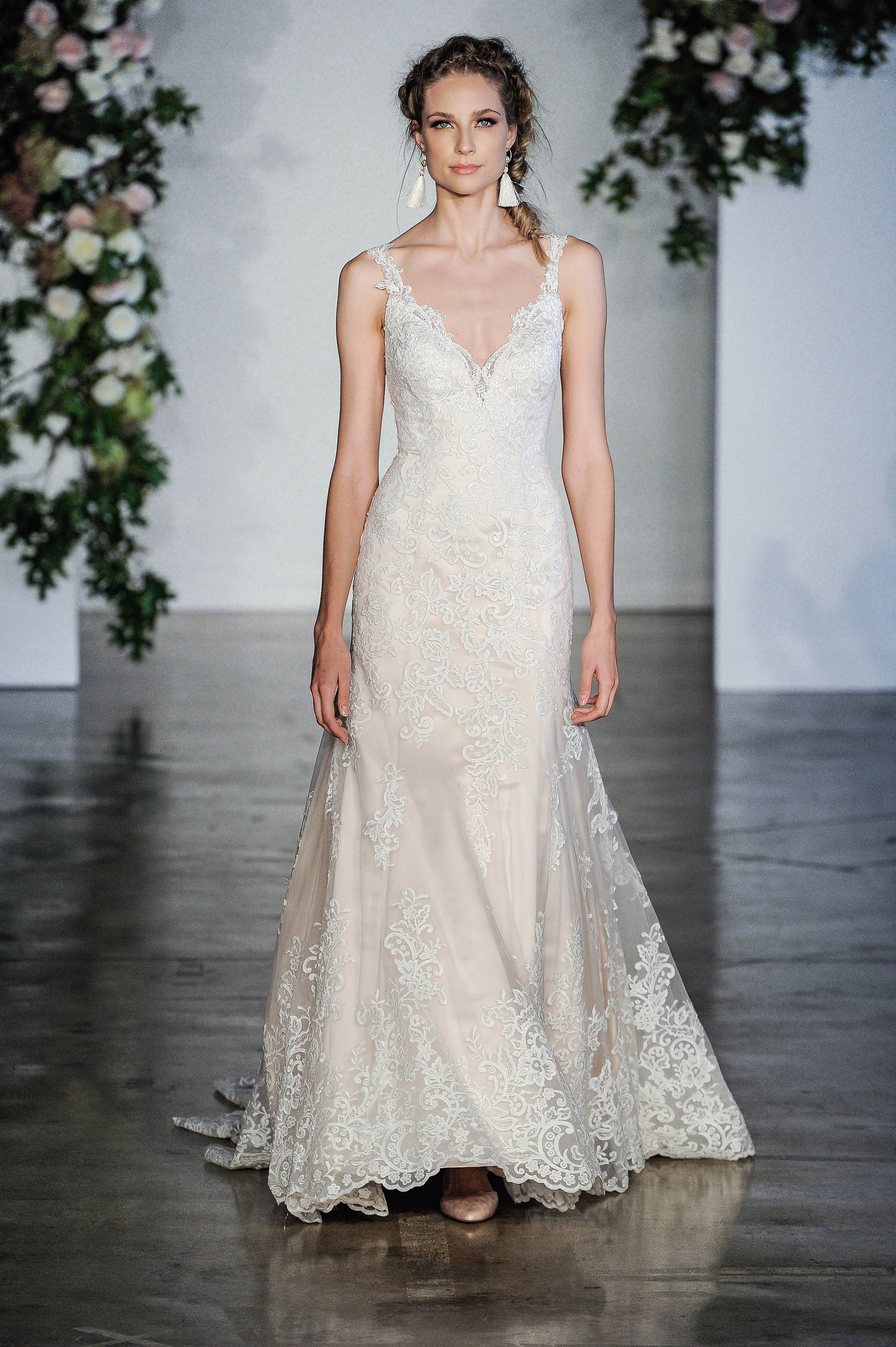 Morilee Embellished V-Neck Wedding Dress Fall 2018