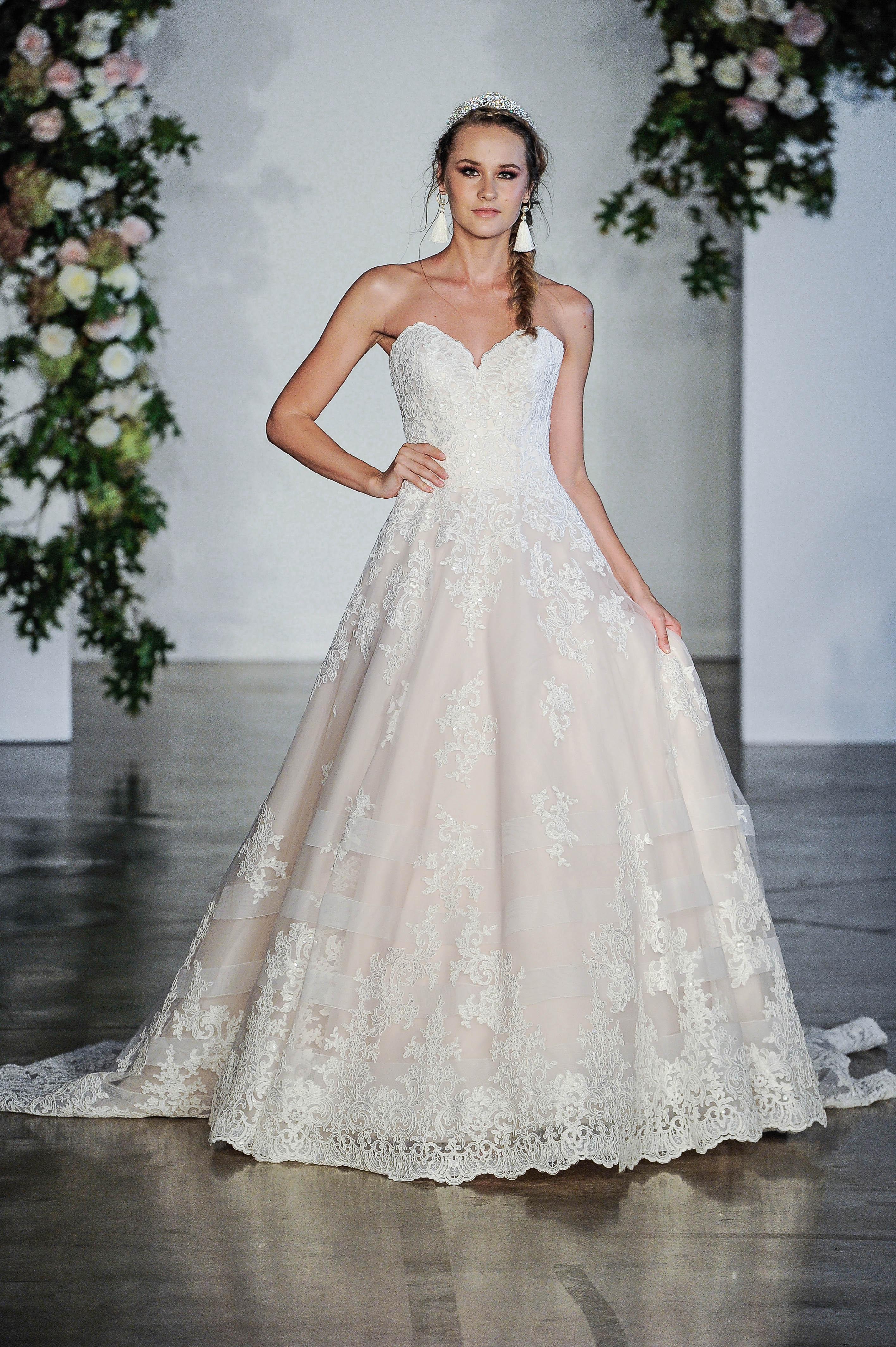 Morilee Sweetheart Off-the-Shoulder Wedding Dress Fall 2018