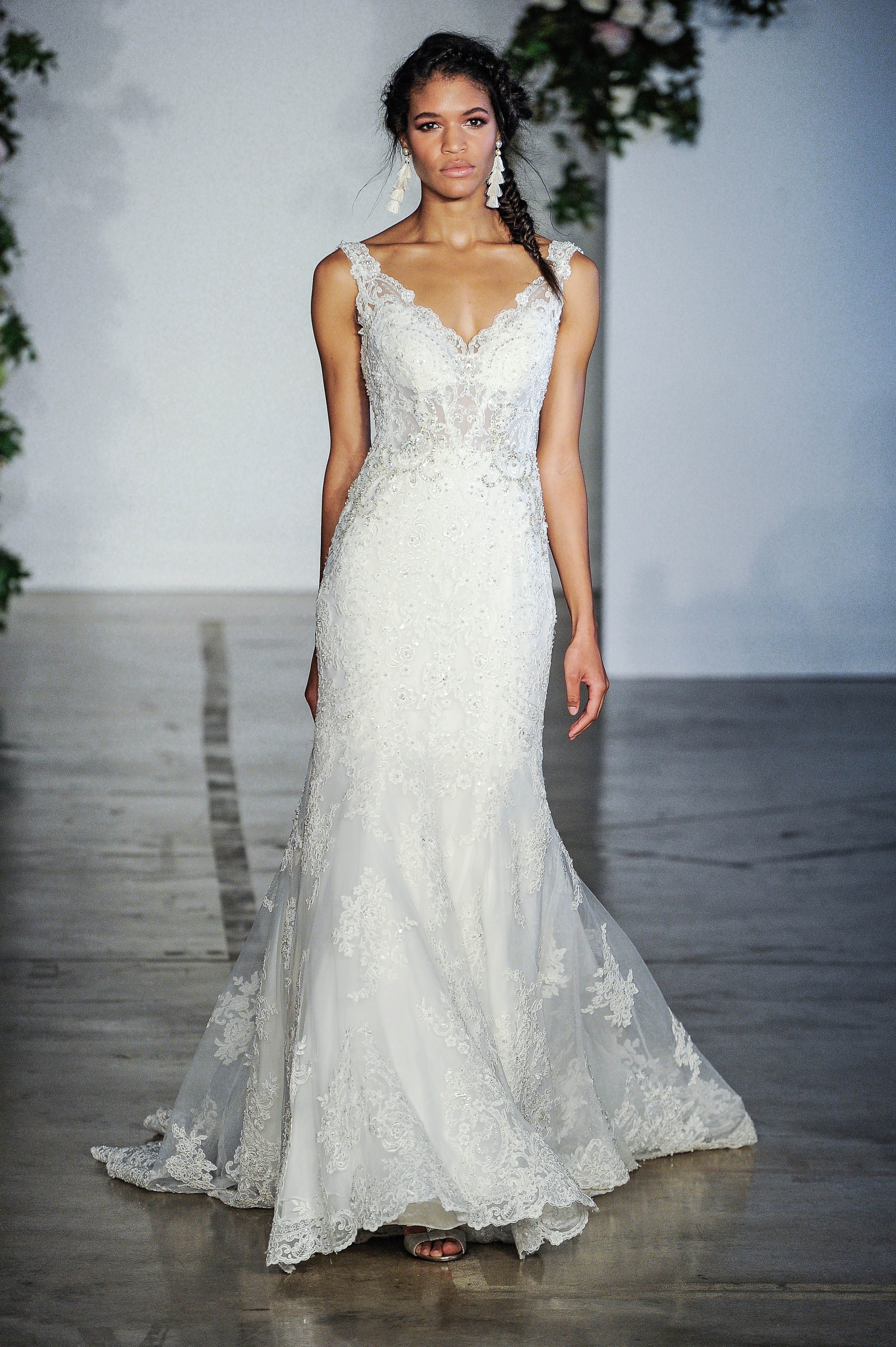 Morilee V-Neck Mermaid Wedding Dress Fall 2018