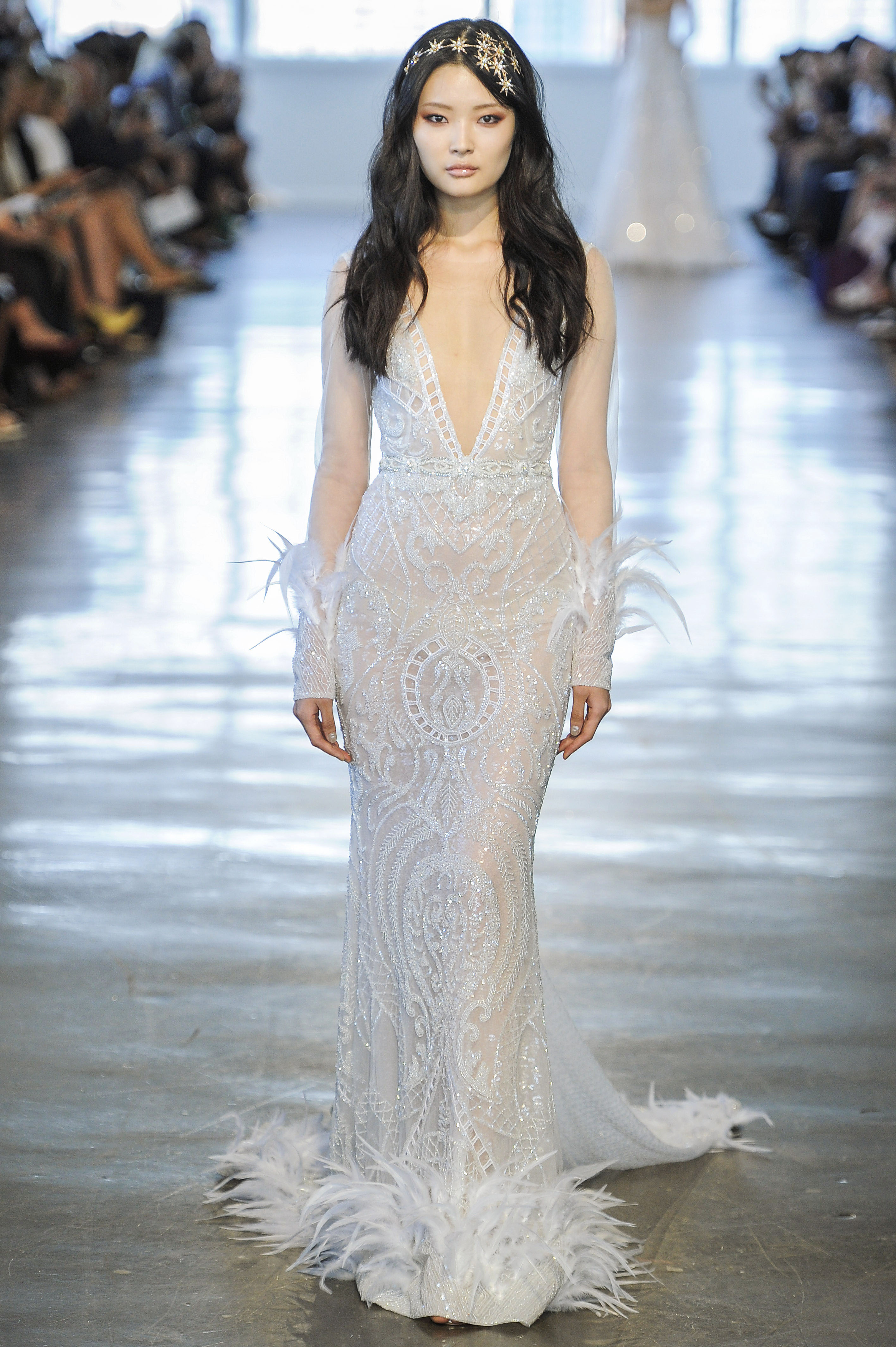 Berta Embellished Long Sleeves Wedding Dress Fall 2018