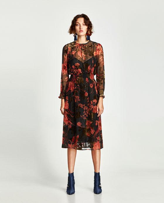 floral overlay dress
