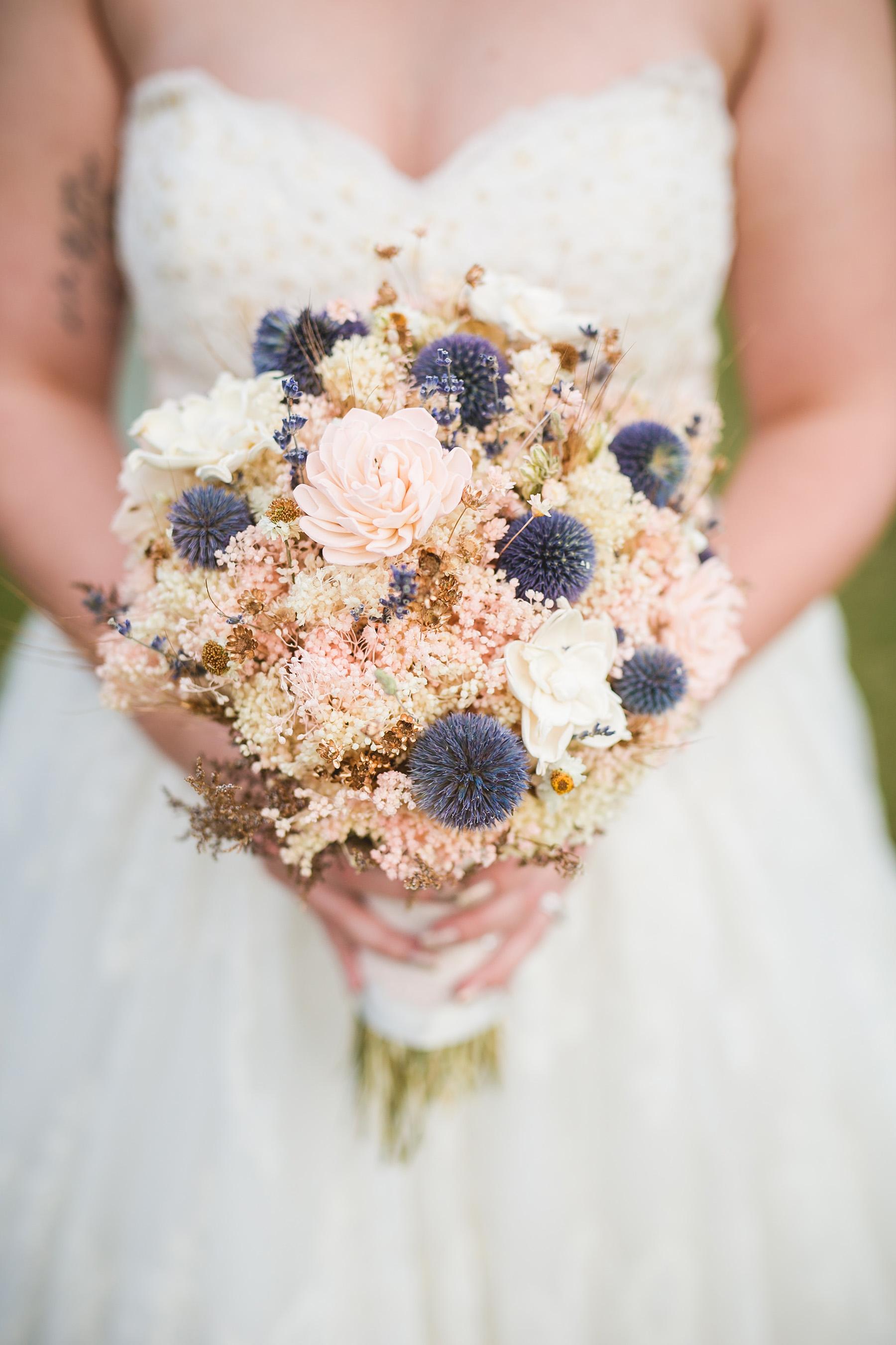 Dried Flower Thistle Bouquet