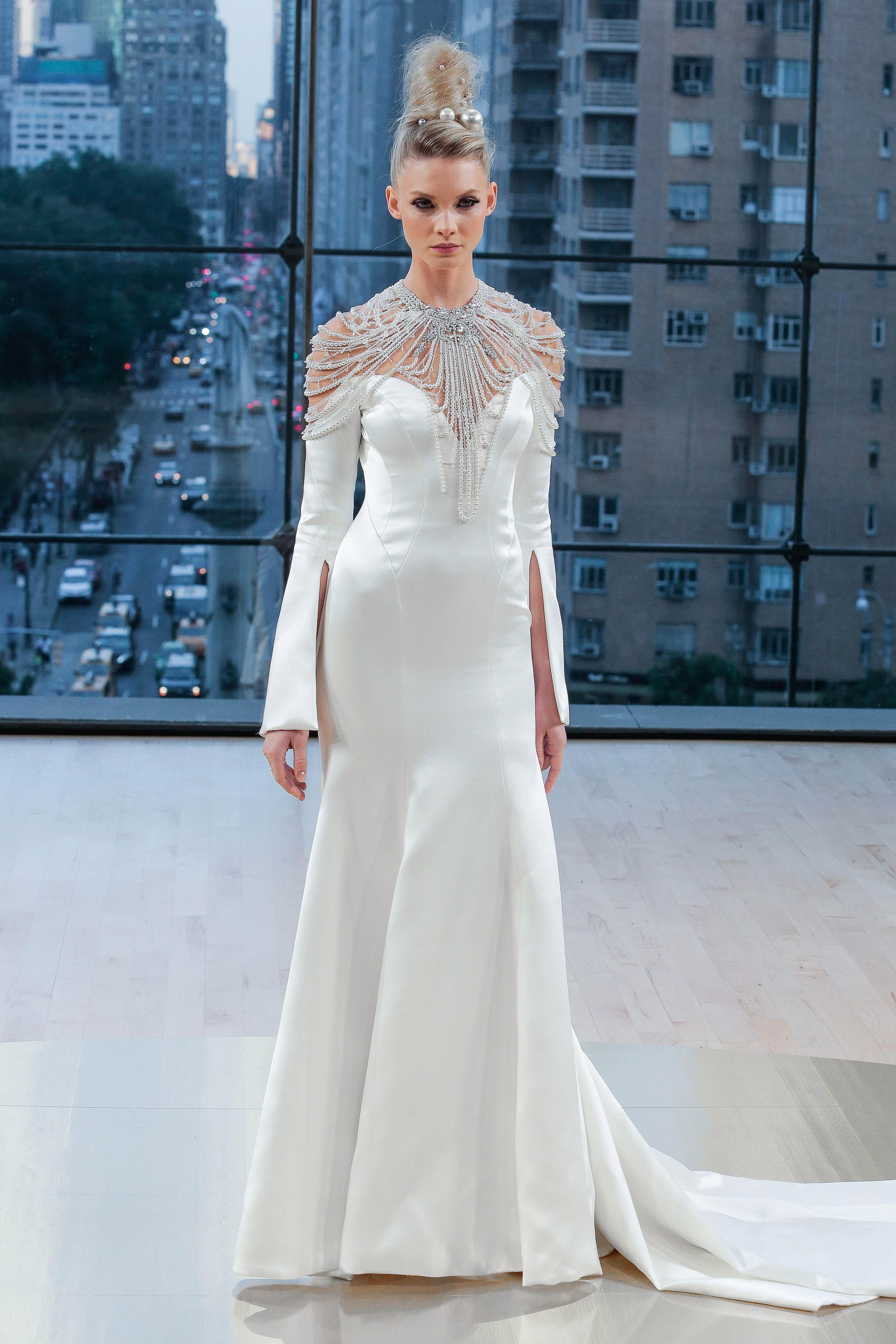 Ines Di Santo Sweetheart Trumpet Wedding Dress Fall 2018