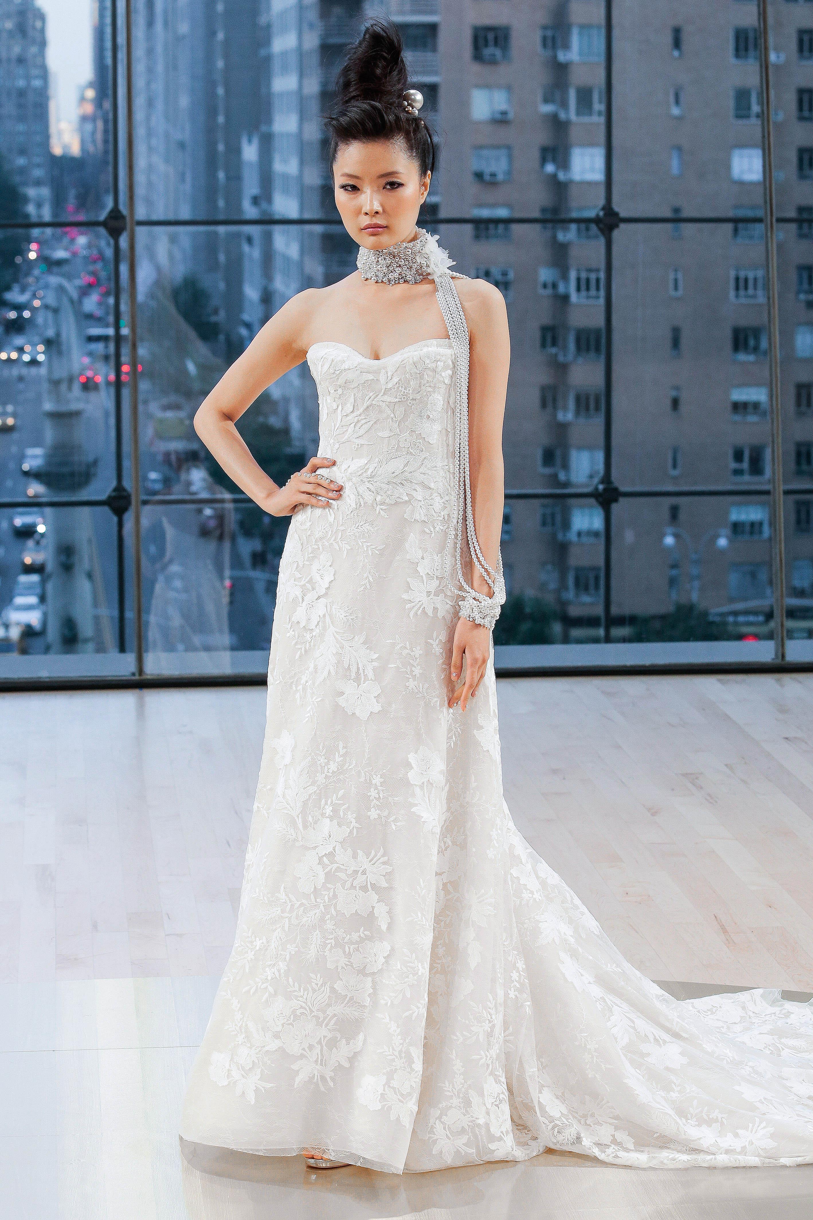 Ines Di Santo Strapless Sweetheart Wedding Dress Fall 2018