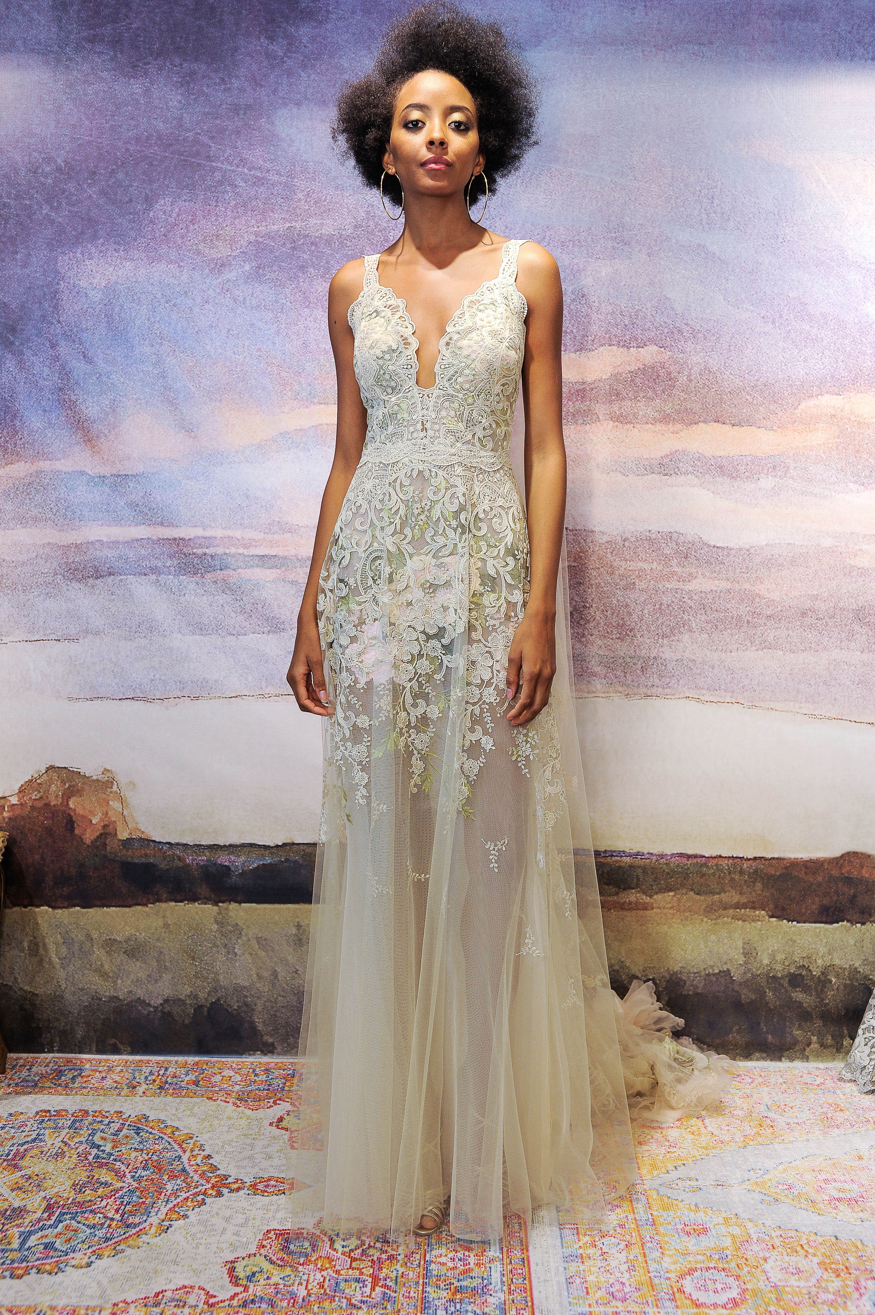 claire pettibone lace with straps wedding dress fall 2018