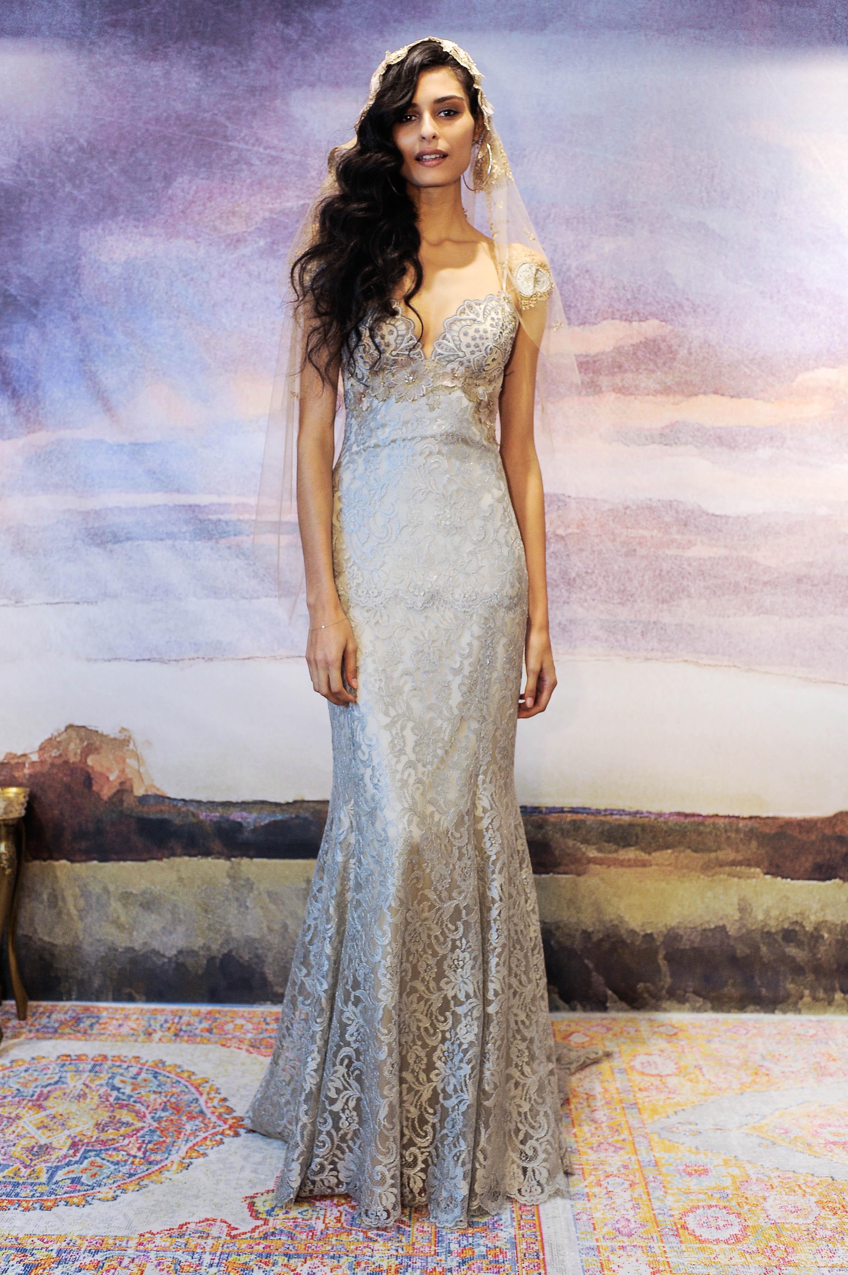 claire pettibone gray trumpet wedding dress fall 2018