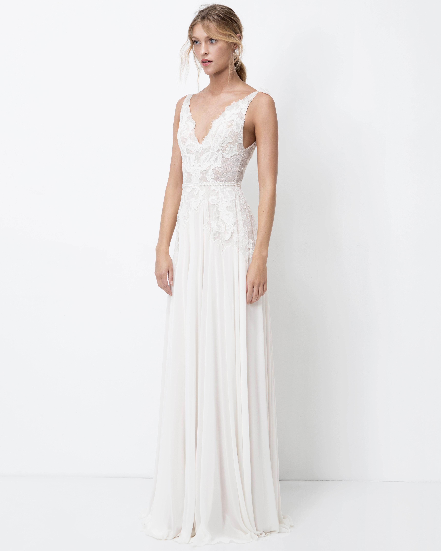 lihi hod sheath wedding dress with straps fall 2018