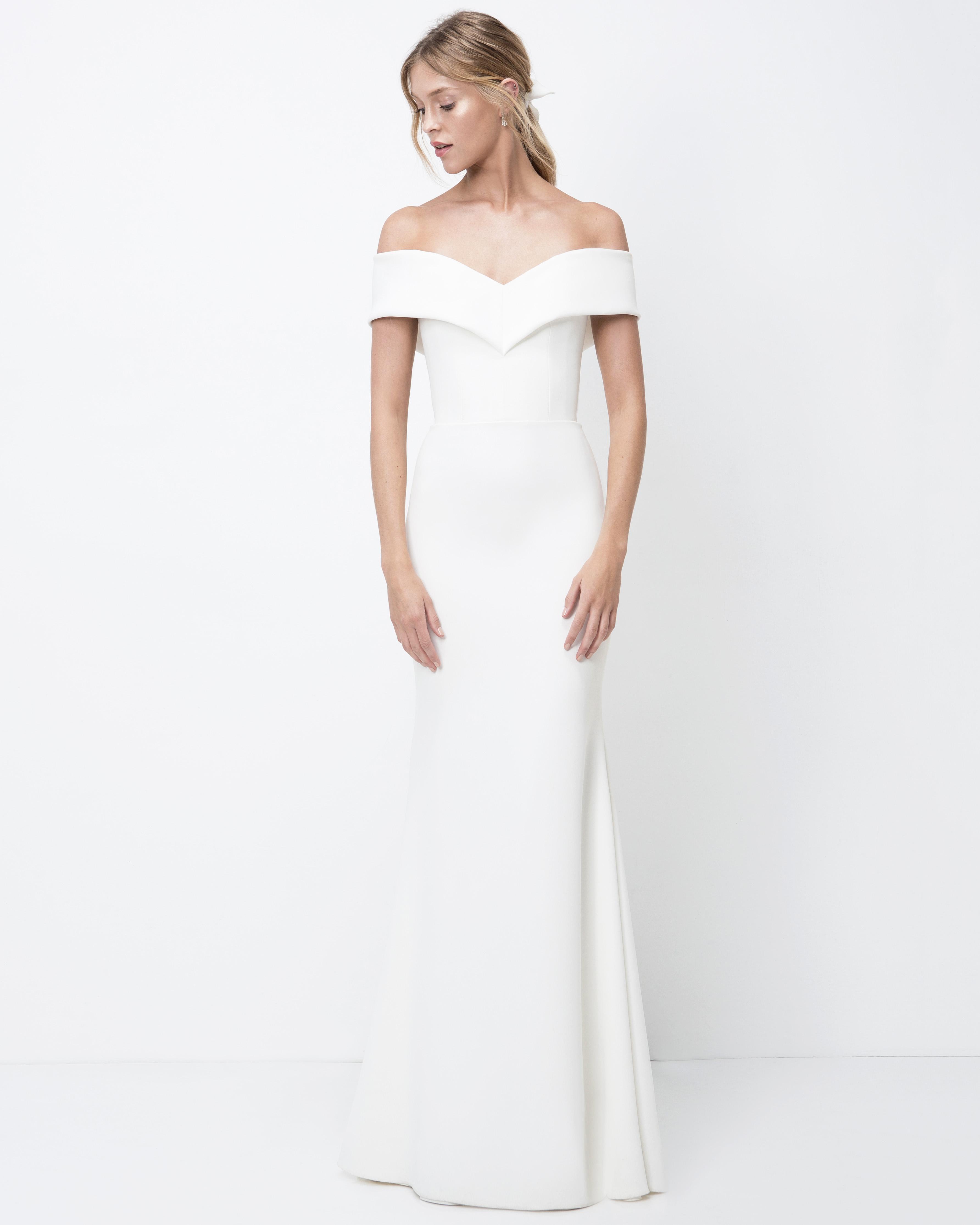 lihi hod off-the-shoulder trumpet wedding dress fall 2018
