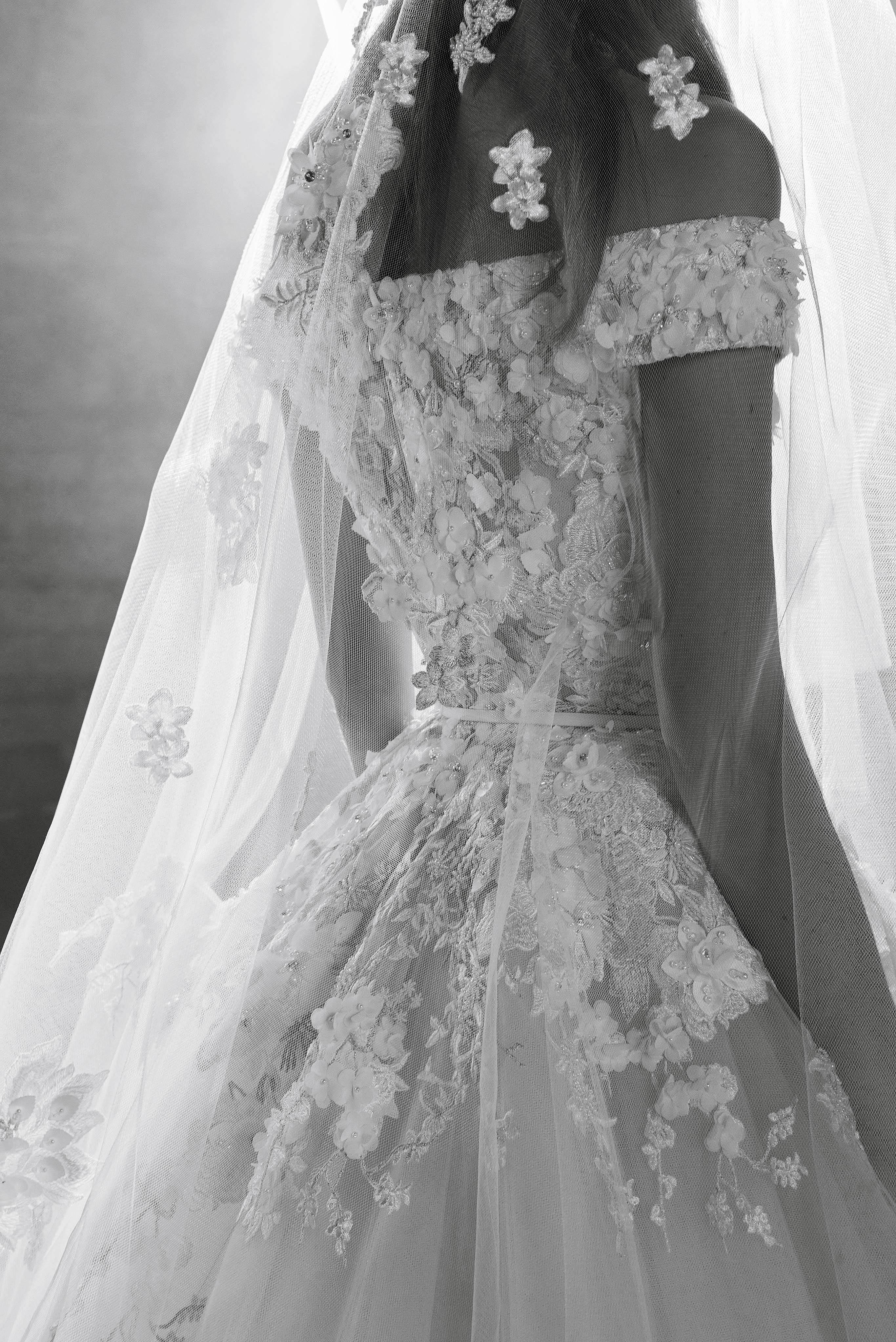Elie Saab Off-the-Shoulder Wedding Dress Fall 2018