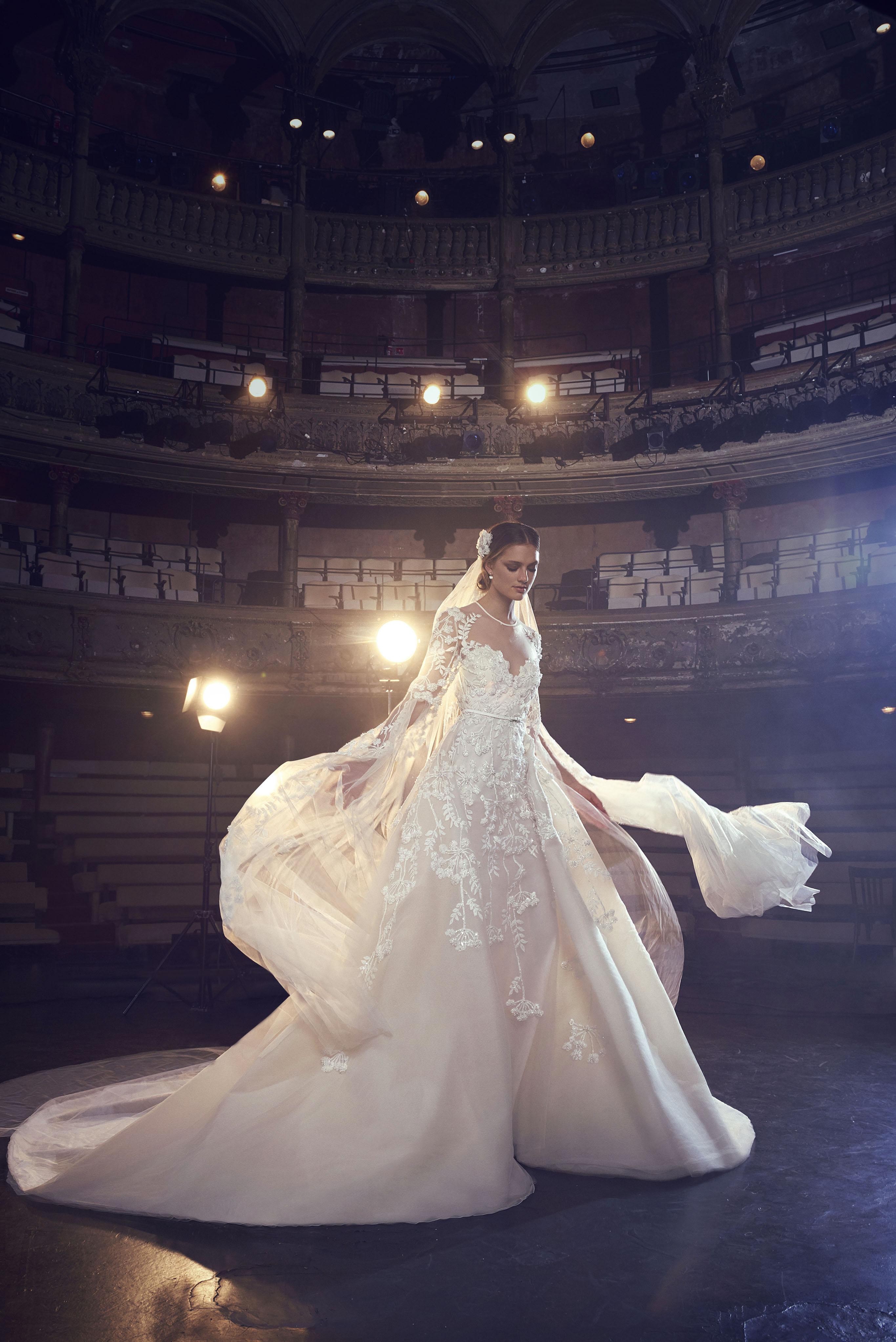 Elie Saab Sweetheart with Long Sleeves Wedding Dress Fall 2018