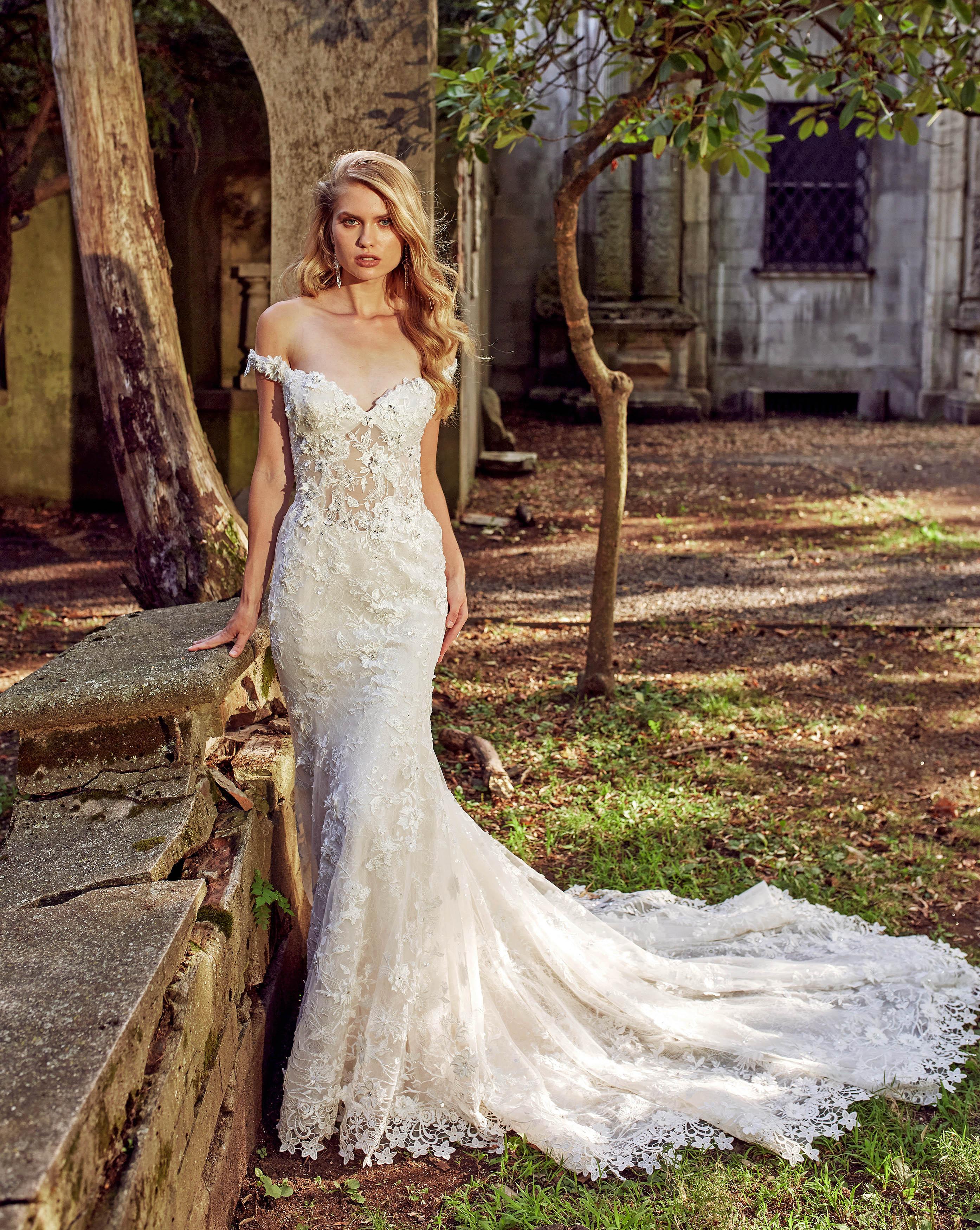 eve of milady off-the-shoulder trumpet wedding dress fall 2018