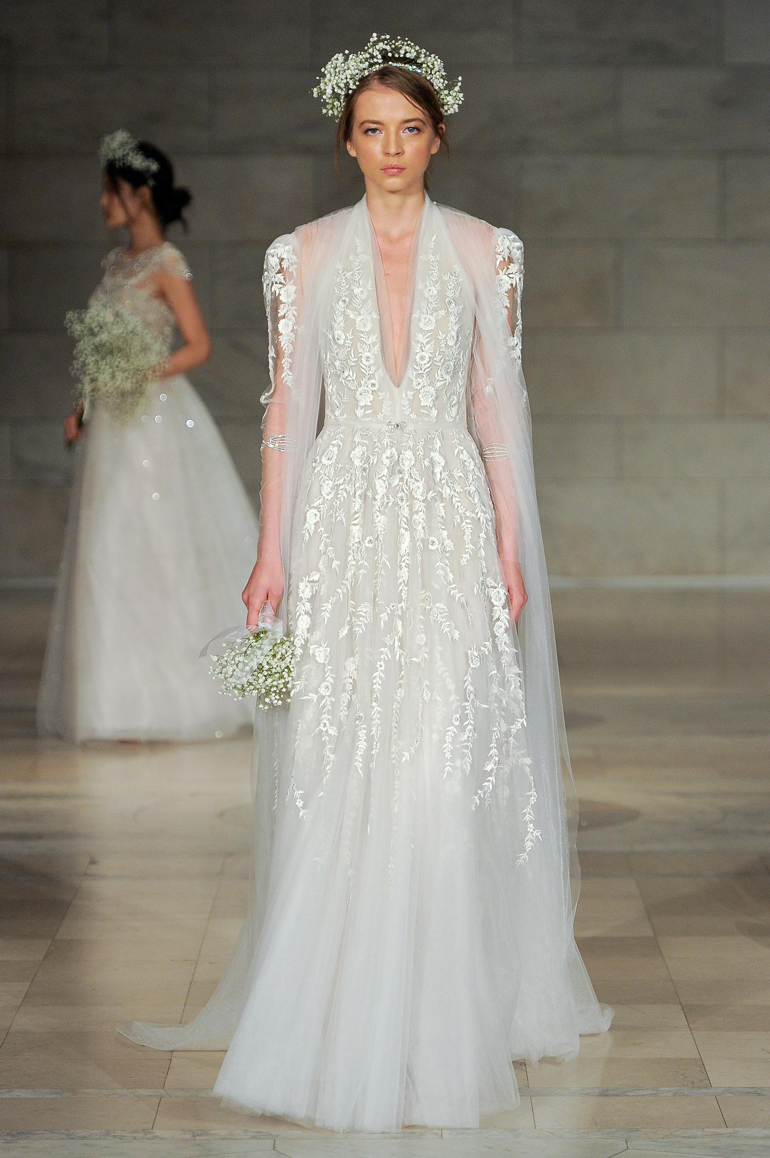 reem acra bridal market wedding dress fall 2018 halter