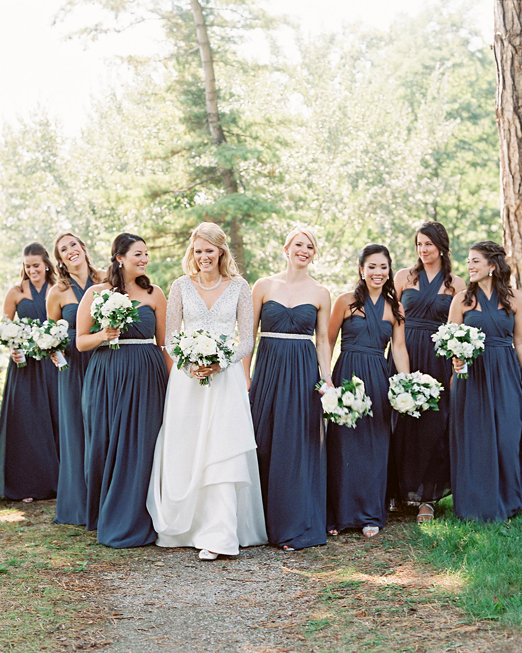 stephanie matt bride and bridesmaids