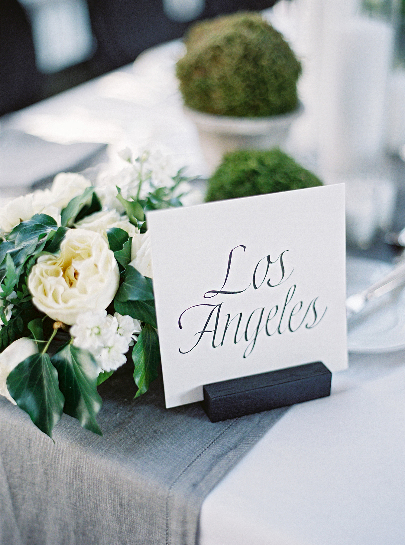 stephanie matt wedding reception table name