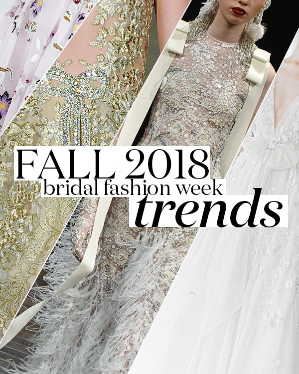 Bridal Fashion Week Fall 2018 Trends