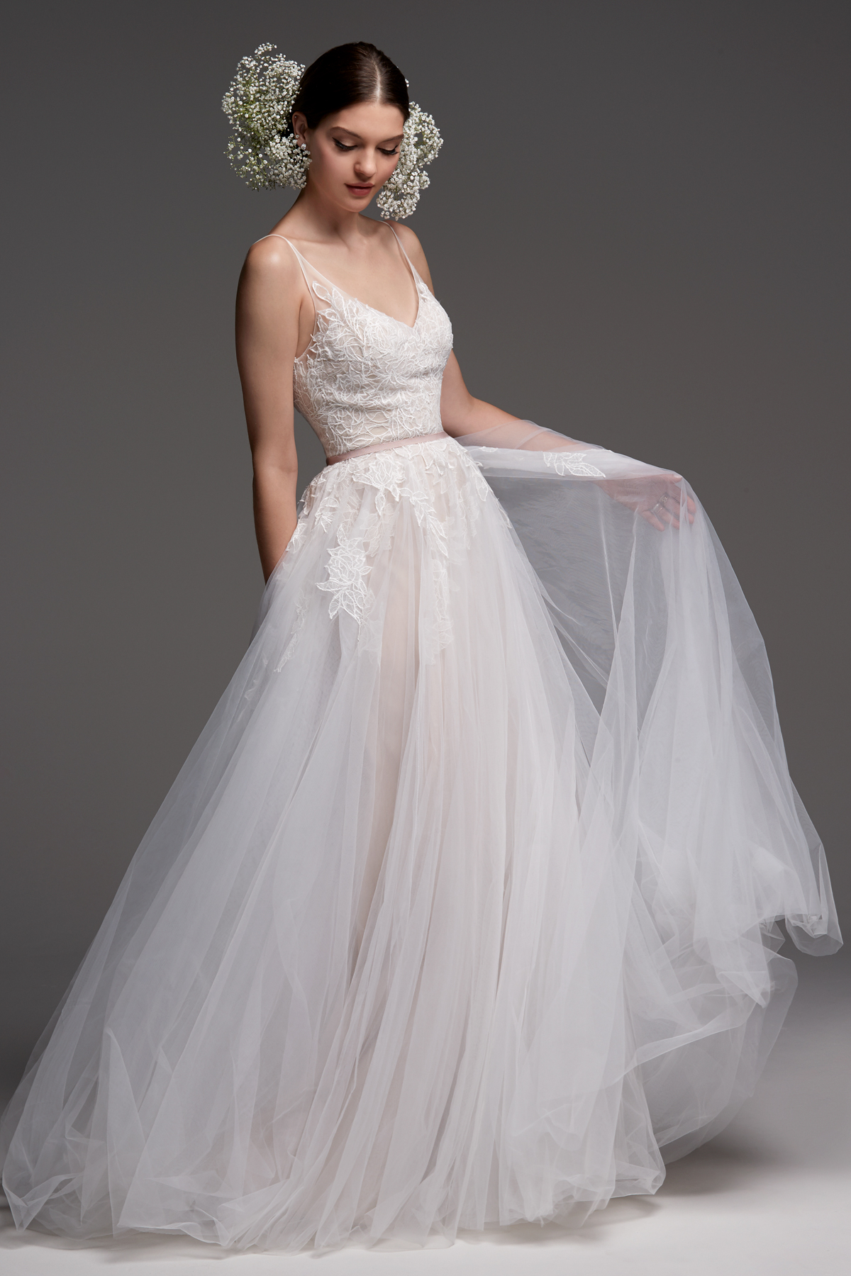 watters wedding dress fall 2018 spaghetti strap v-neck