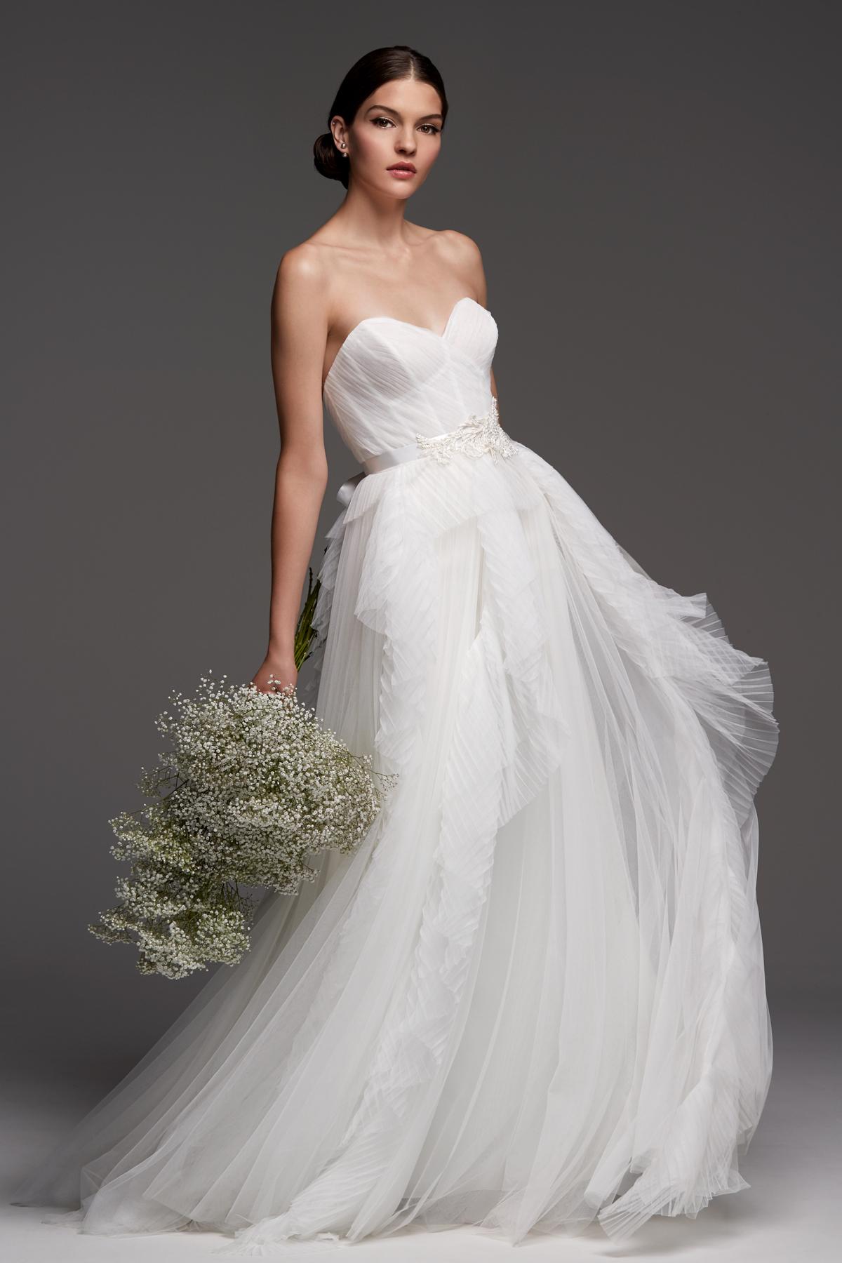 watters wedding dress fall 2018 sweetheart tulle strapless