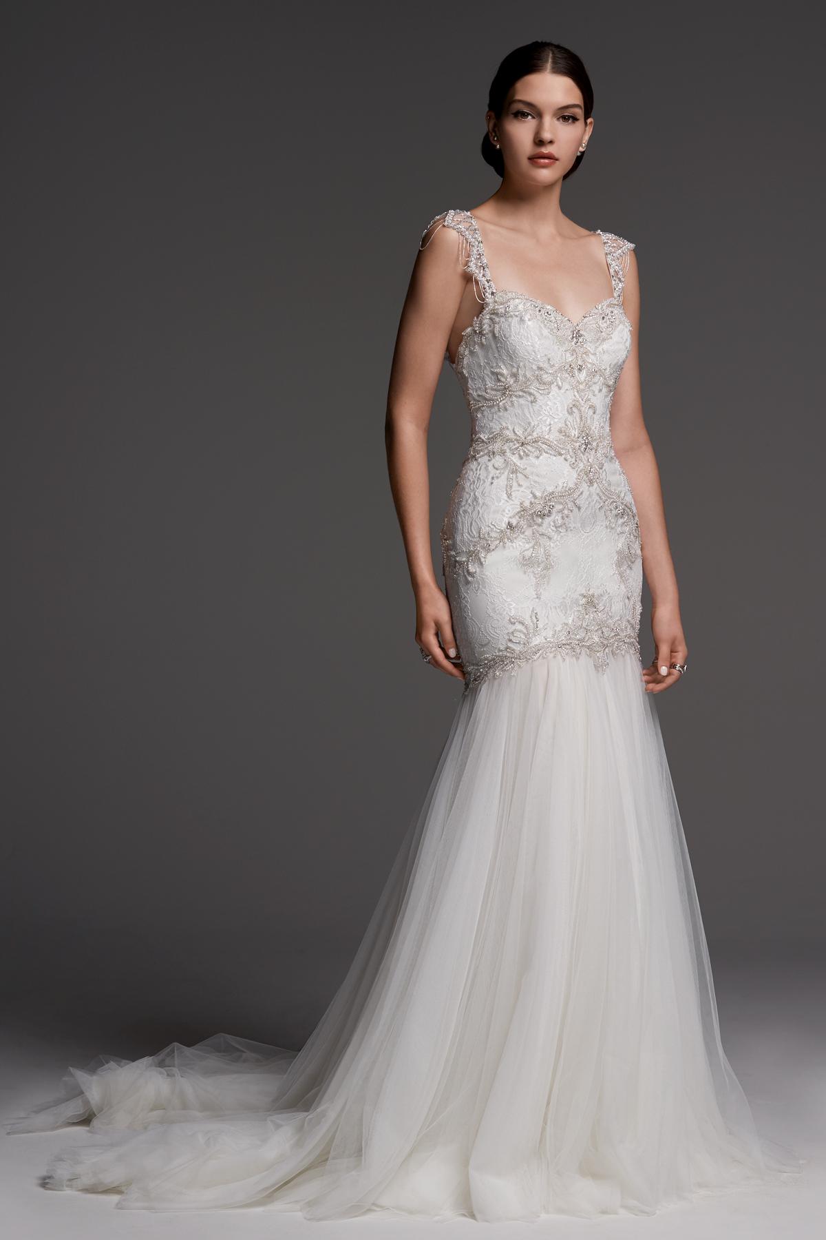 watters wedding dress fall 2018 v-neck mermaid