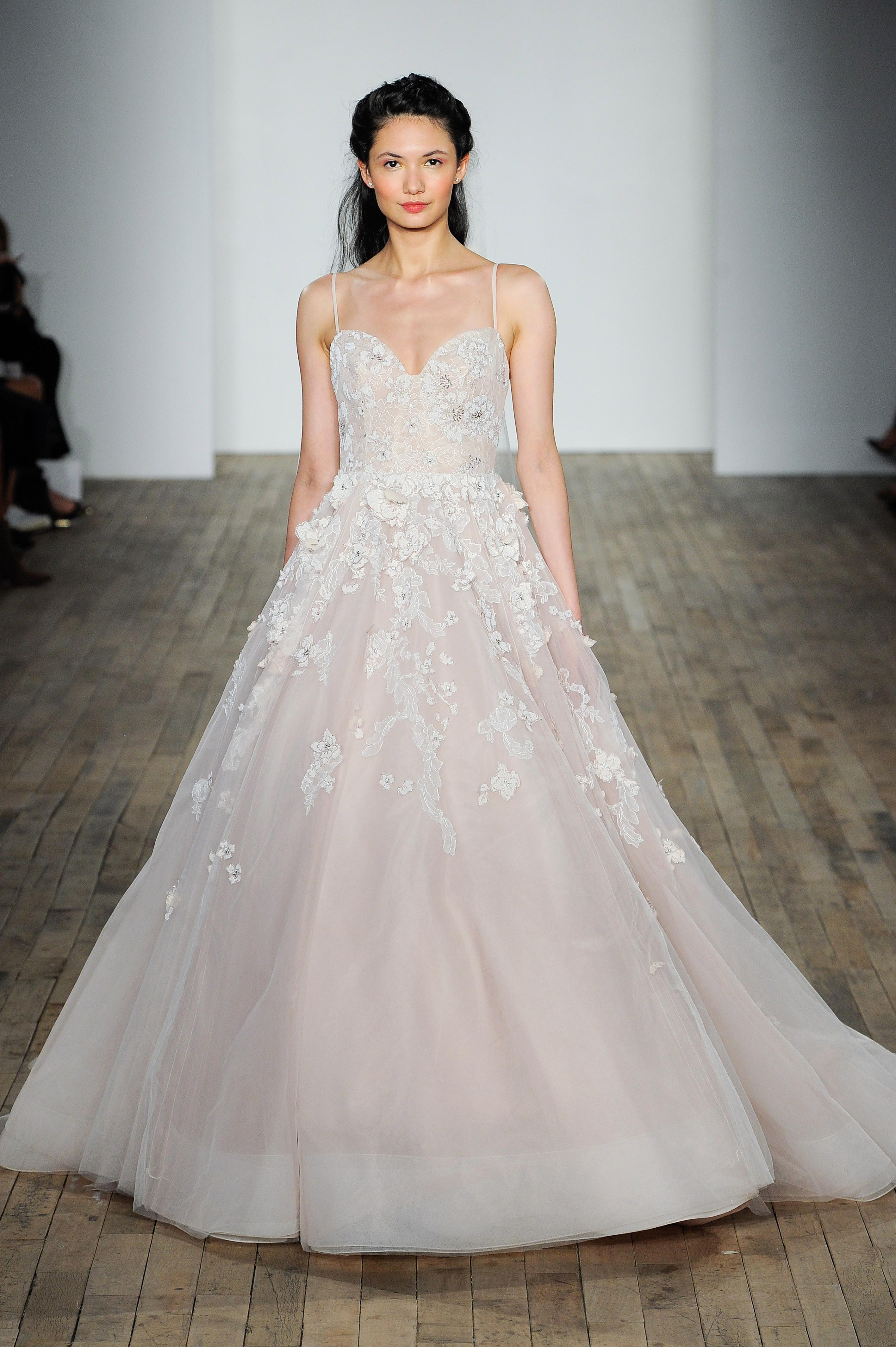 hayley paige fall 2018 sweetheart neckline wedding dress