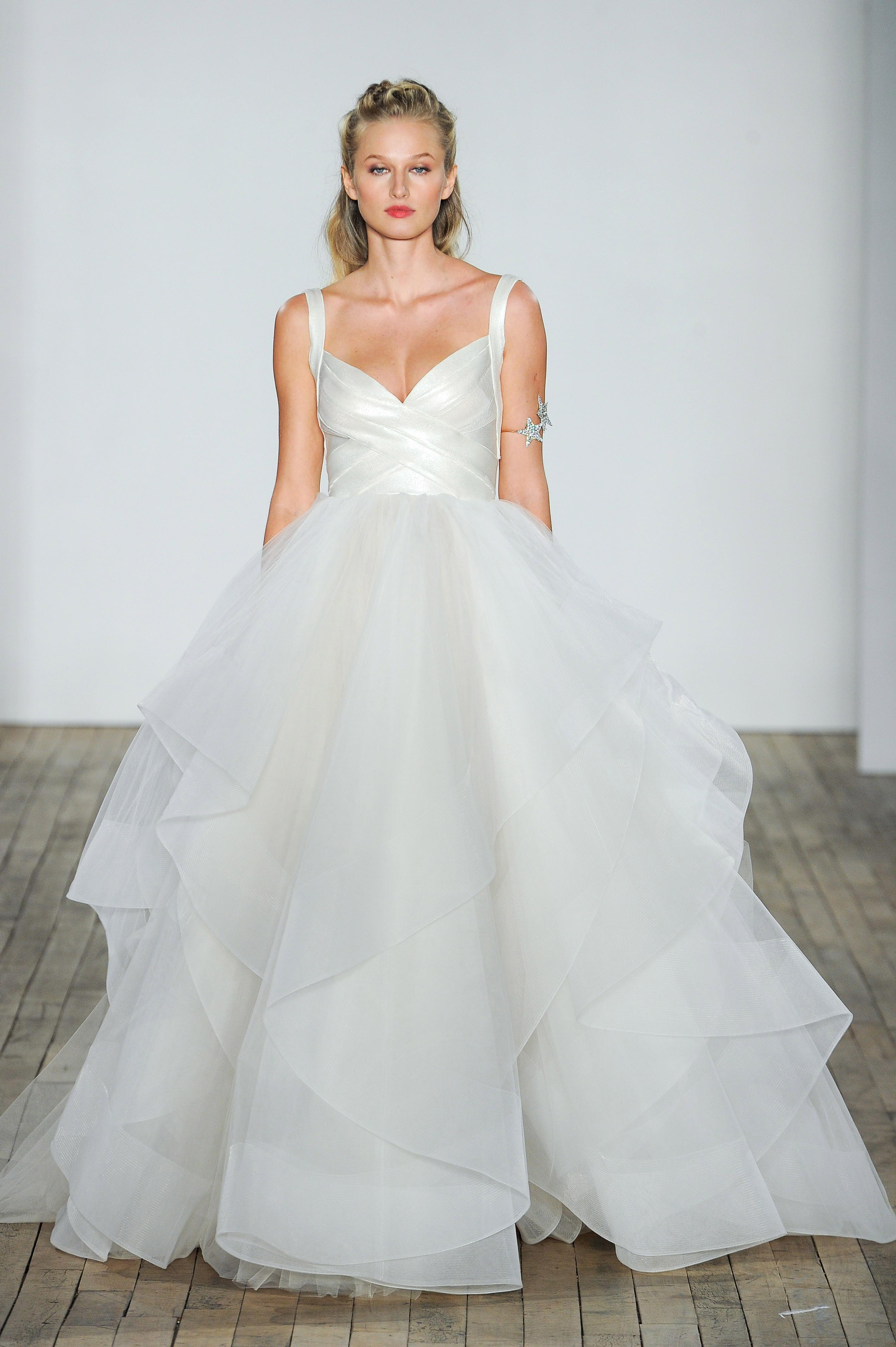 hayley paige fall 2018 chiffon ballgown wedding dress