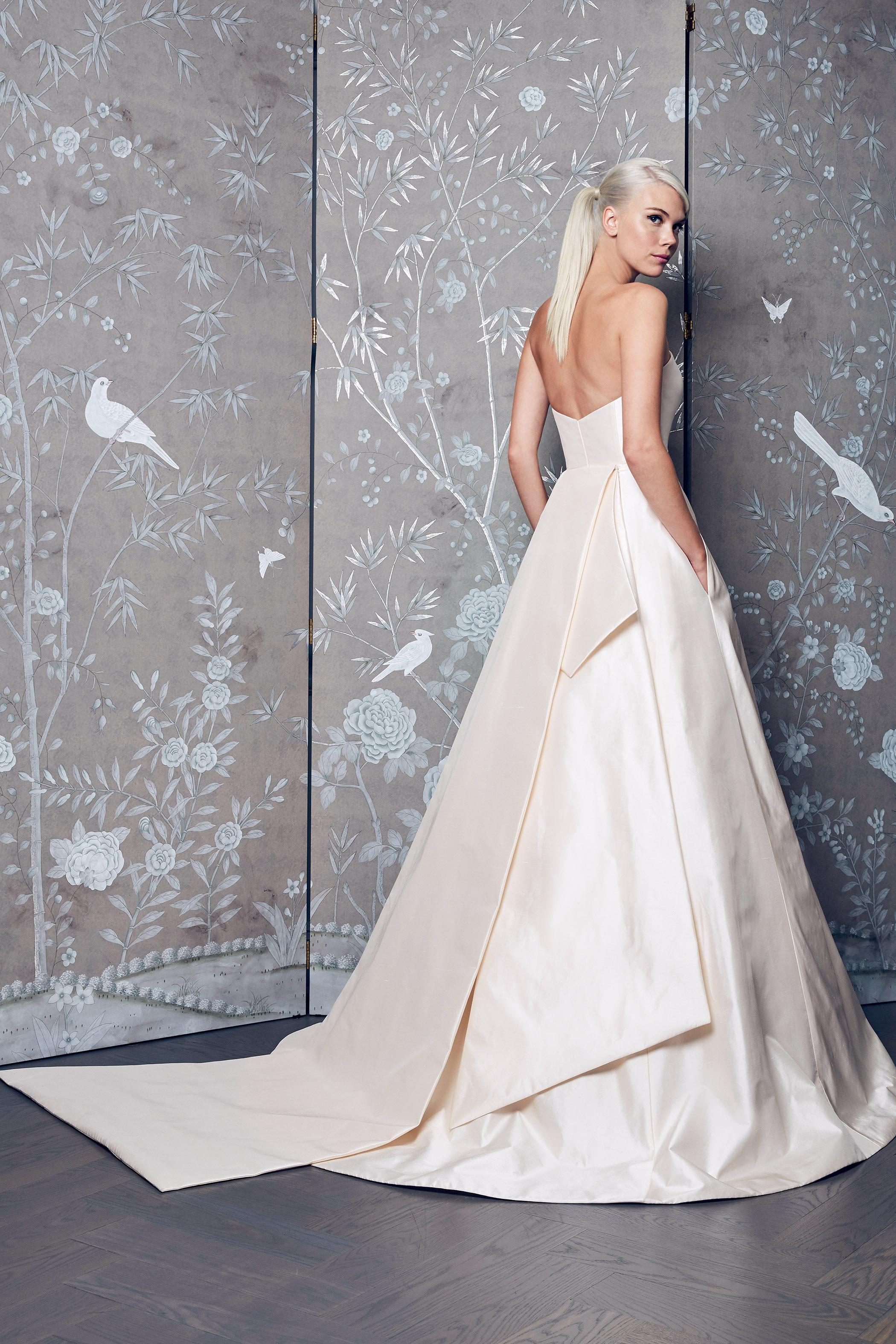 Legends Romona Keveza Layered A-Line Wedding Dress Fall 2018
