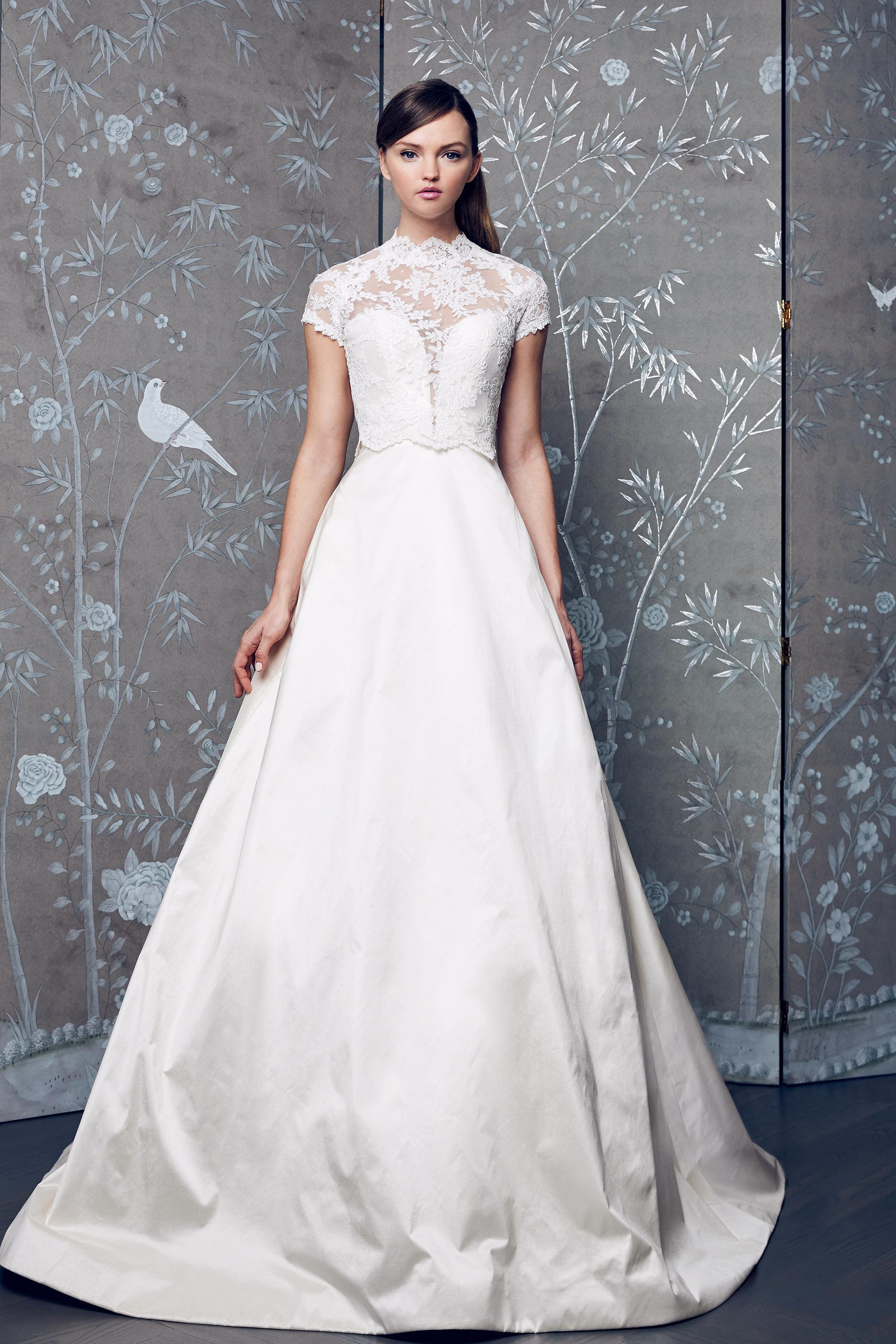 Legends Romona Keveza Short Sleeve Wedding Dress Fall 2018