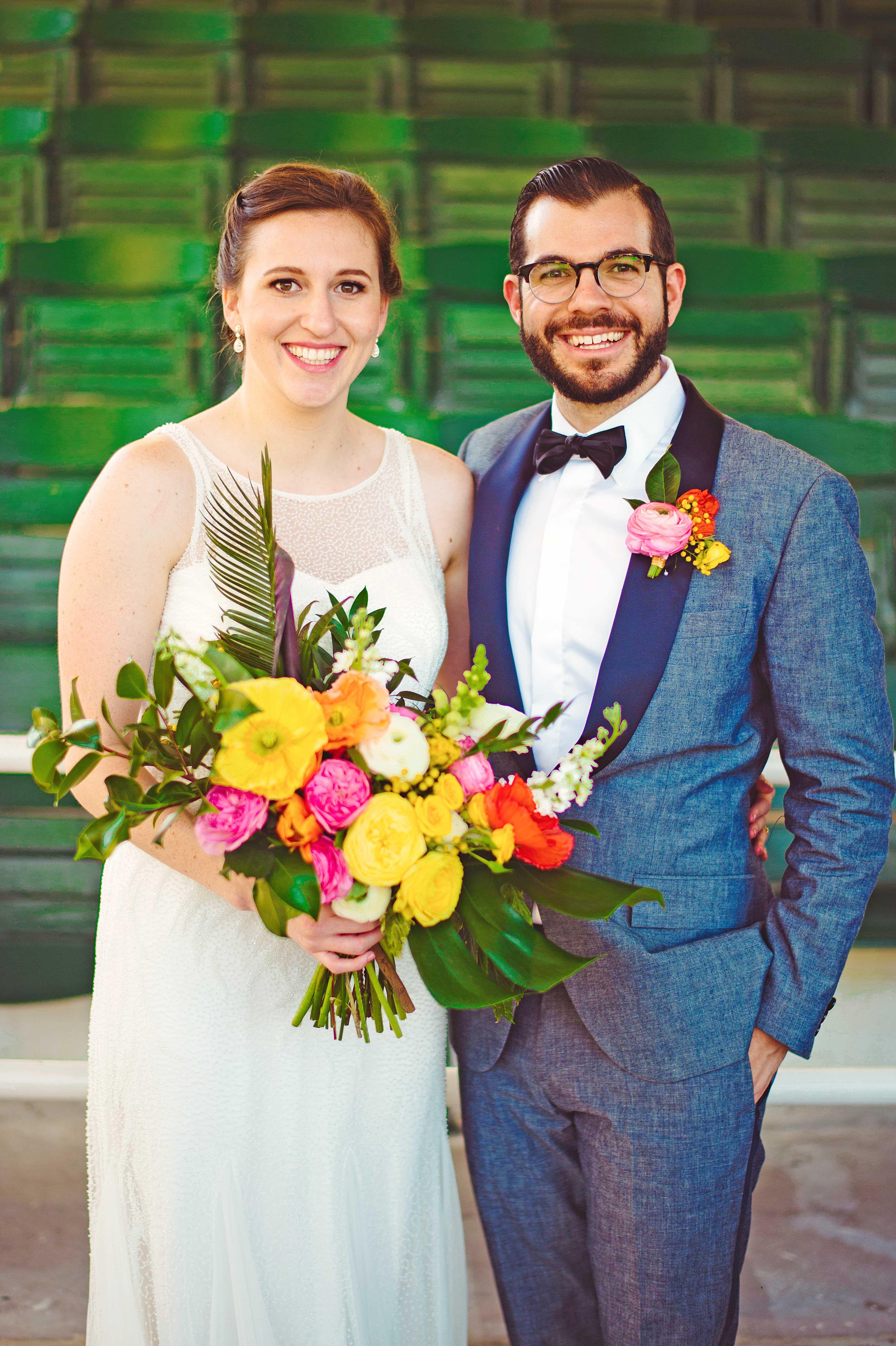 becca zac wedding couple formal