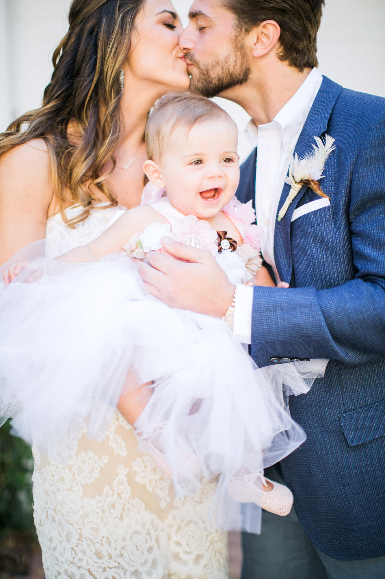 bride groom baby