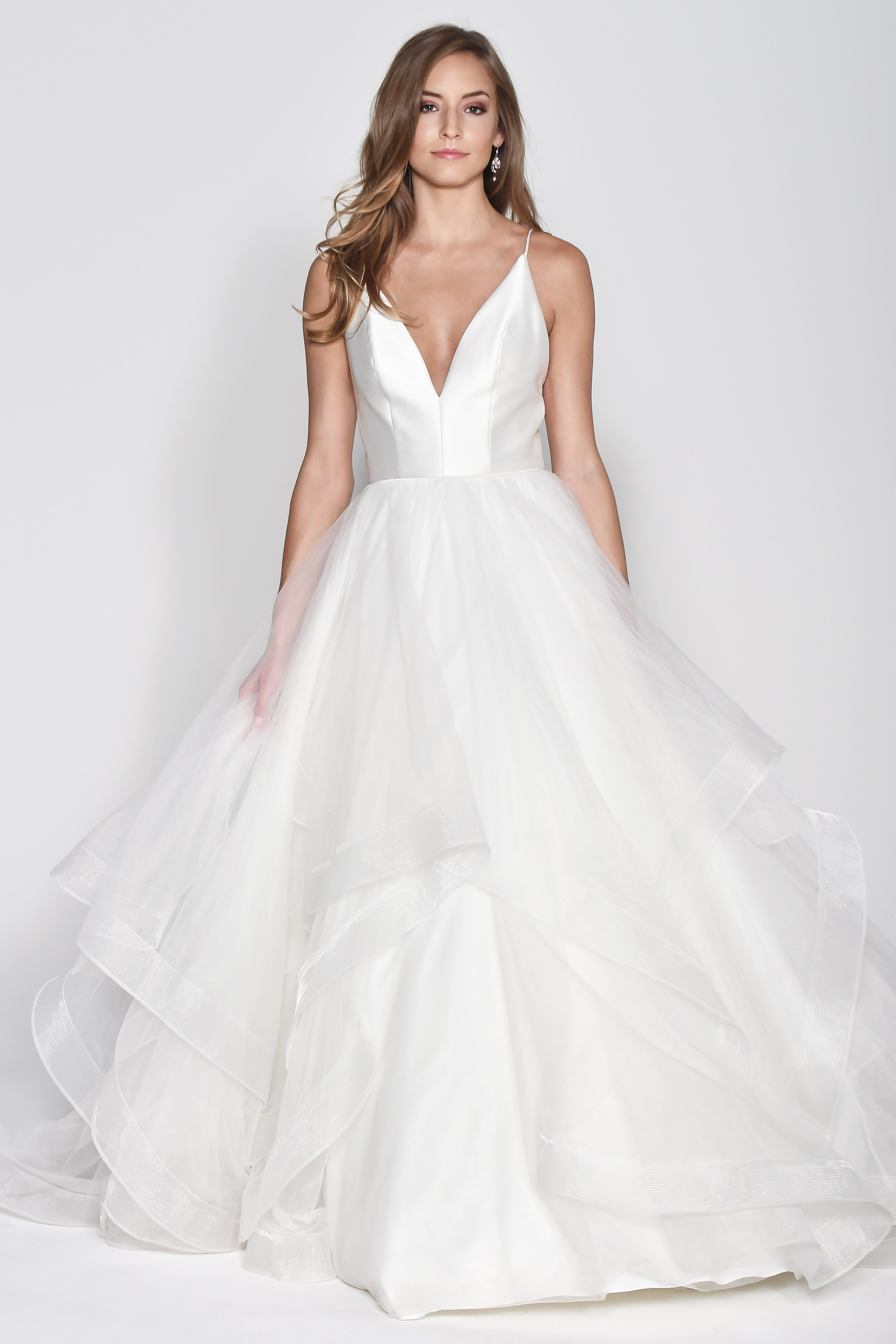 Wtoo by Watters V-Neck Spaghetti Strap Ball Gown Wedding Dress Fall 2018