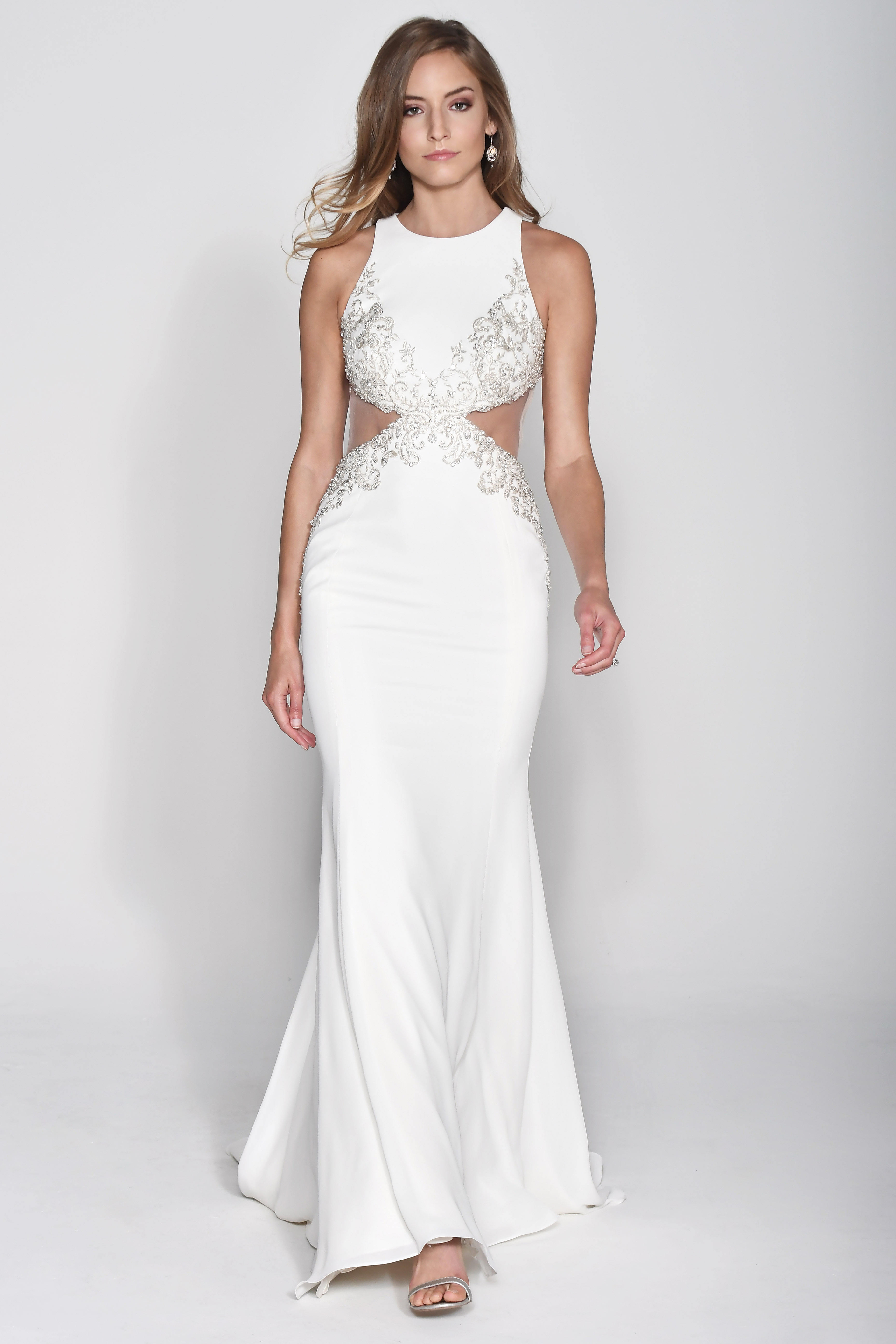 Wtoo by Watters High Neck Trumpet Wedding Dress Fall 2018