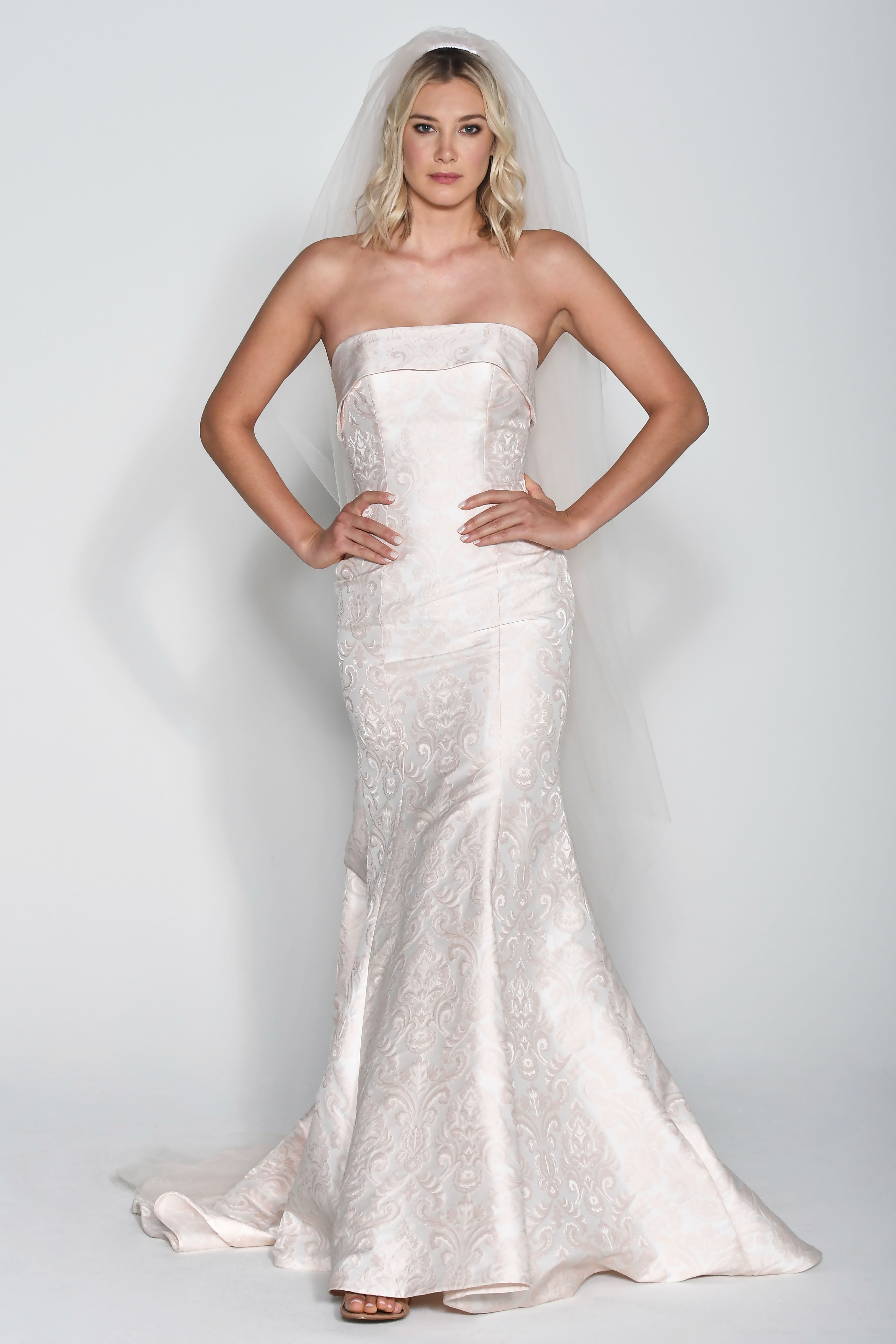 Wtoo by Watters Off-the-Shoulder Mermaid Wedding Dress Fall 2018